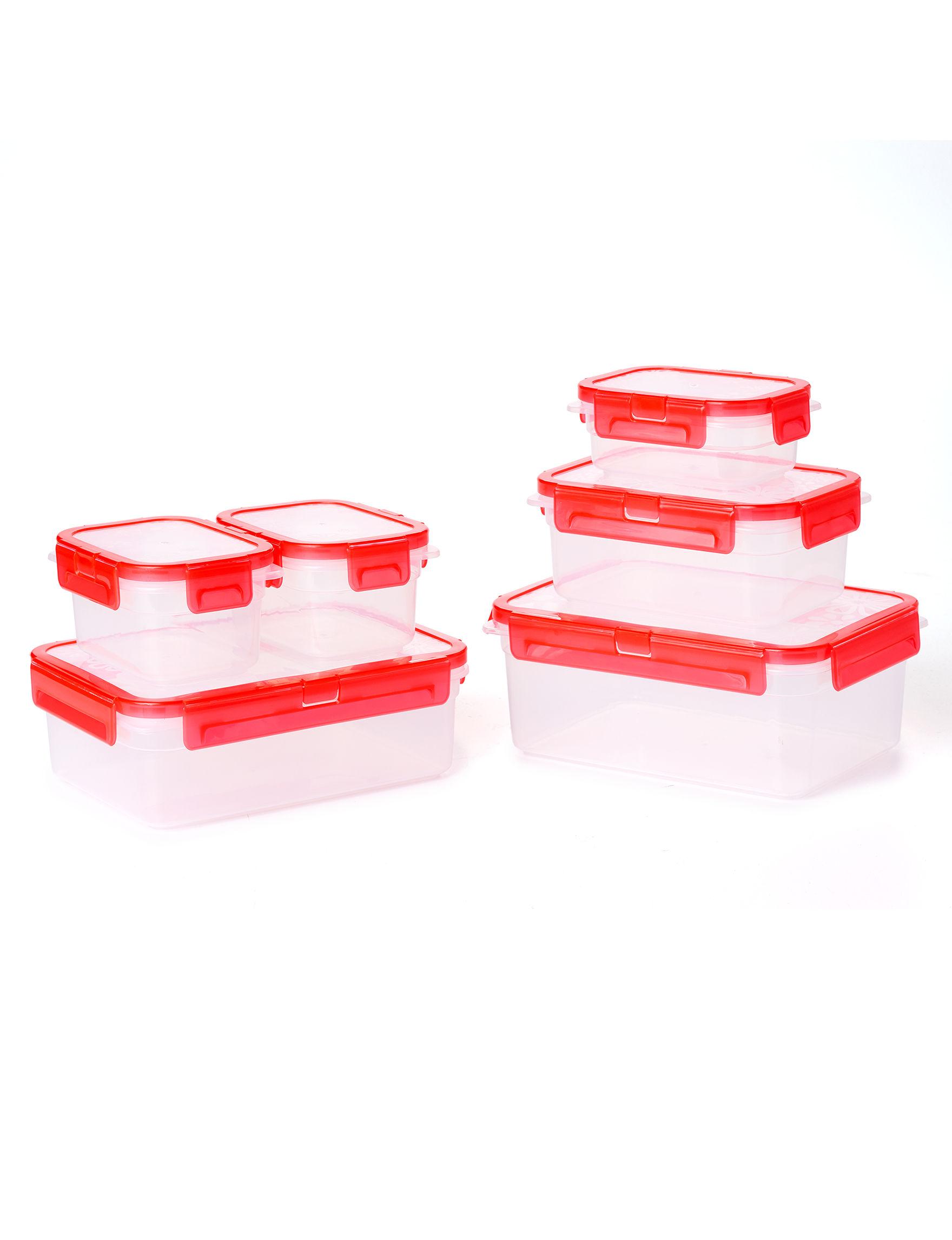 Diamond Home Red Food Storage Kitchen Storage & Organization