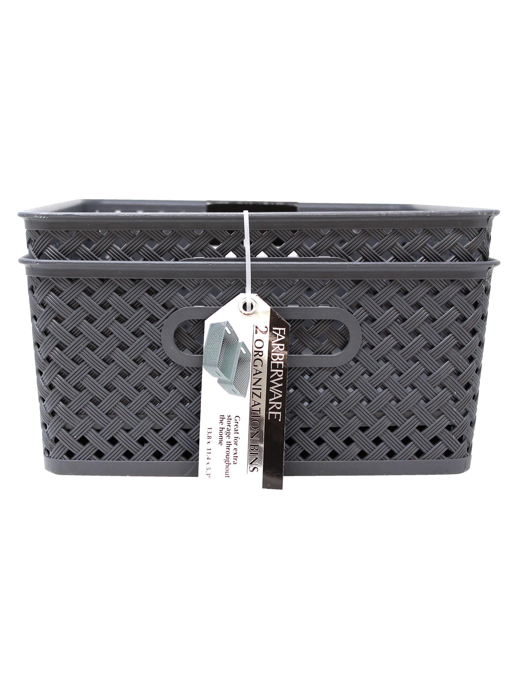 Farberware Grey Baskets Storage & Organization