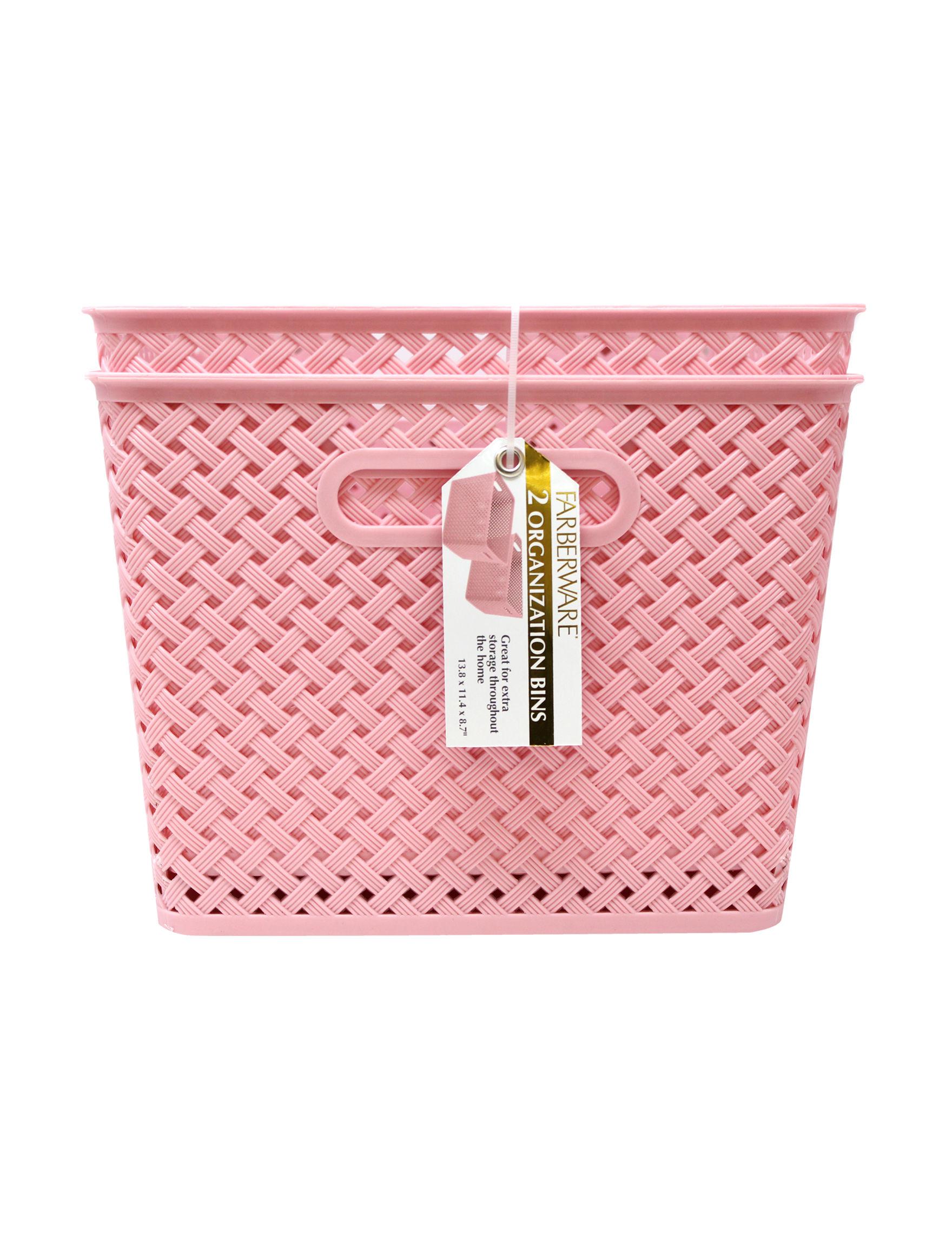 Farberware Pink Baskets Storage & Organization