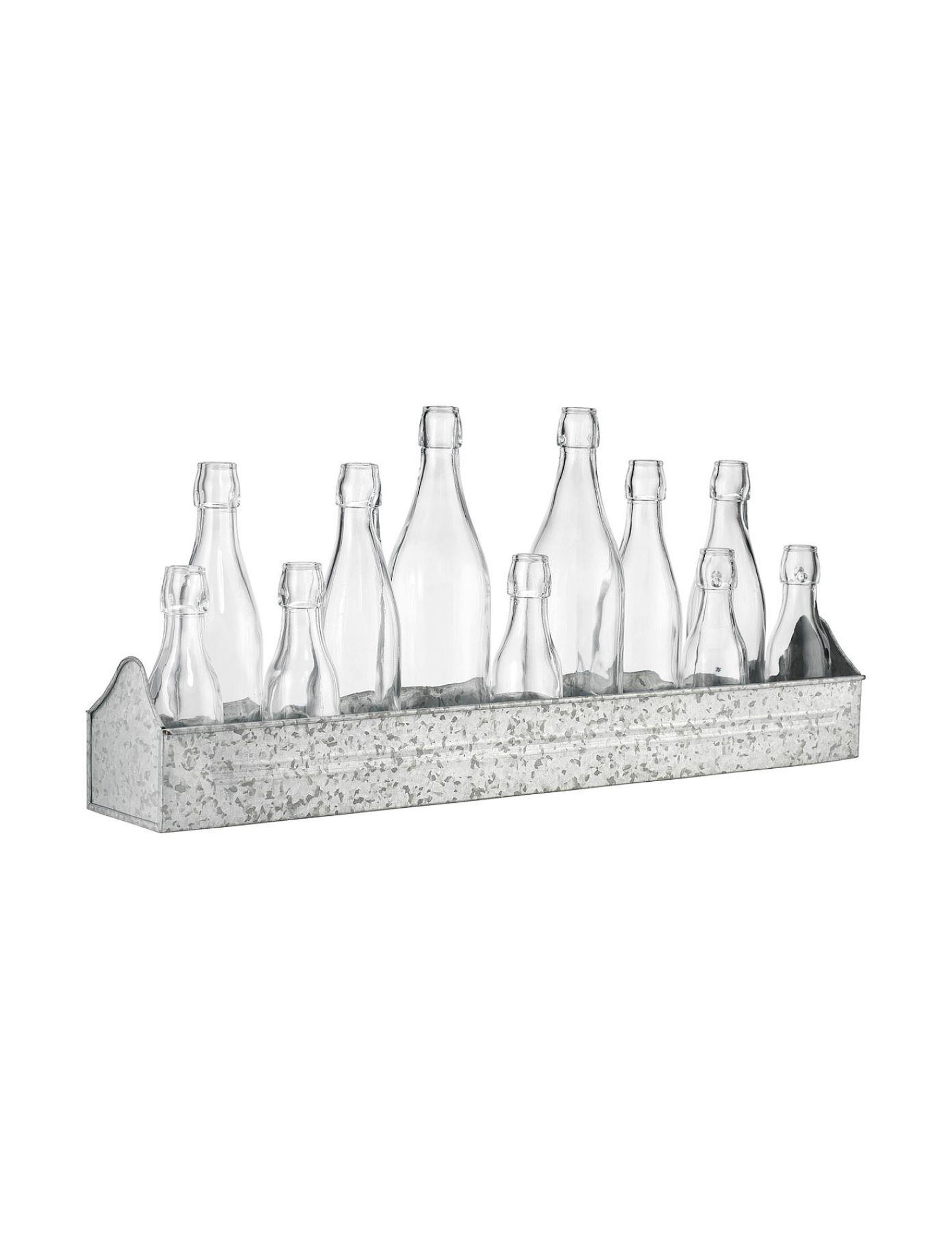 Home Essentials Silver / Clear Decorative Objects Home Accents