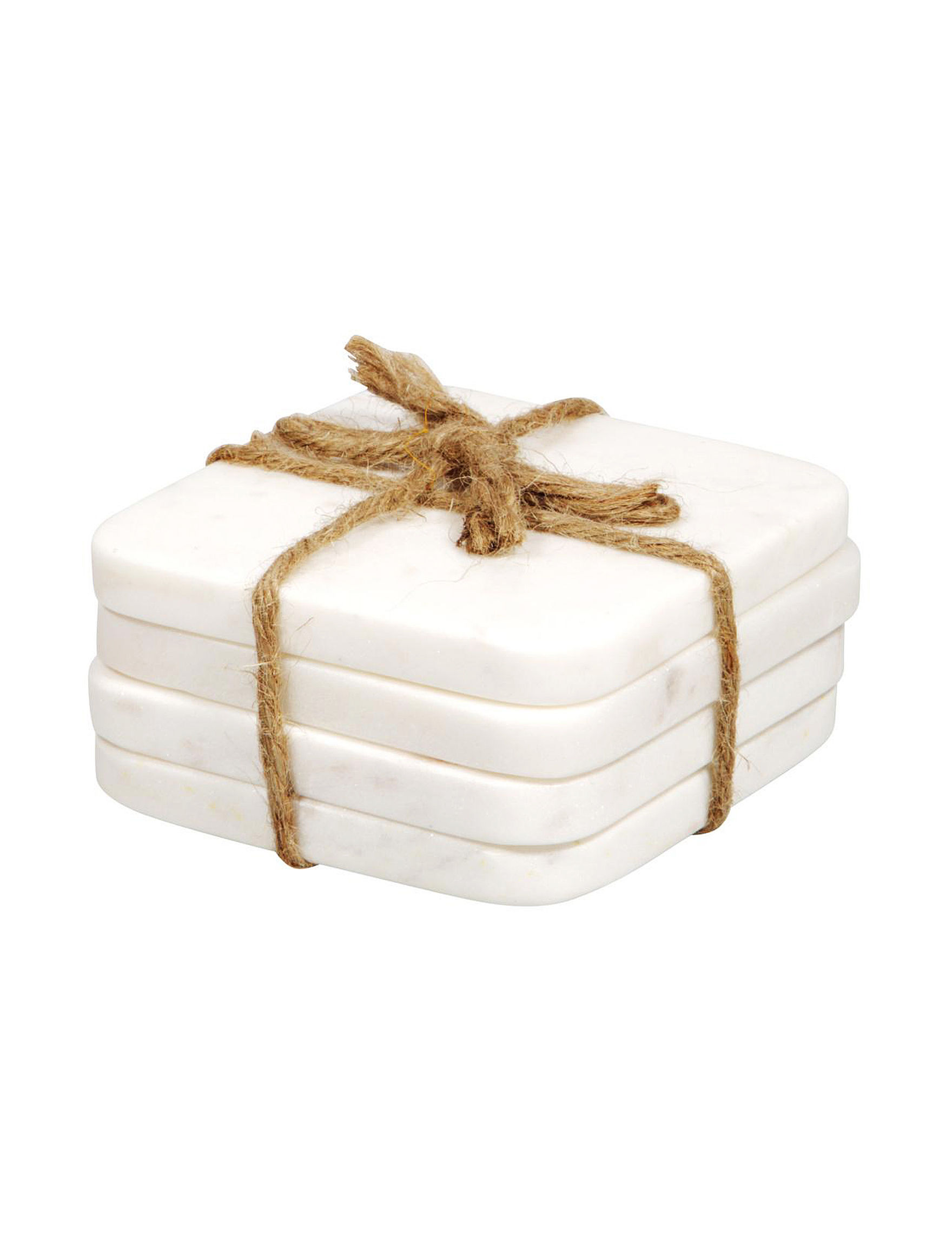 Home Essentials Marble Coasters Bar Accessories Home Accents
