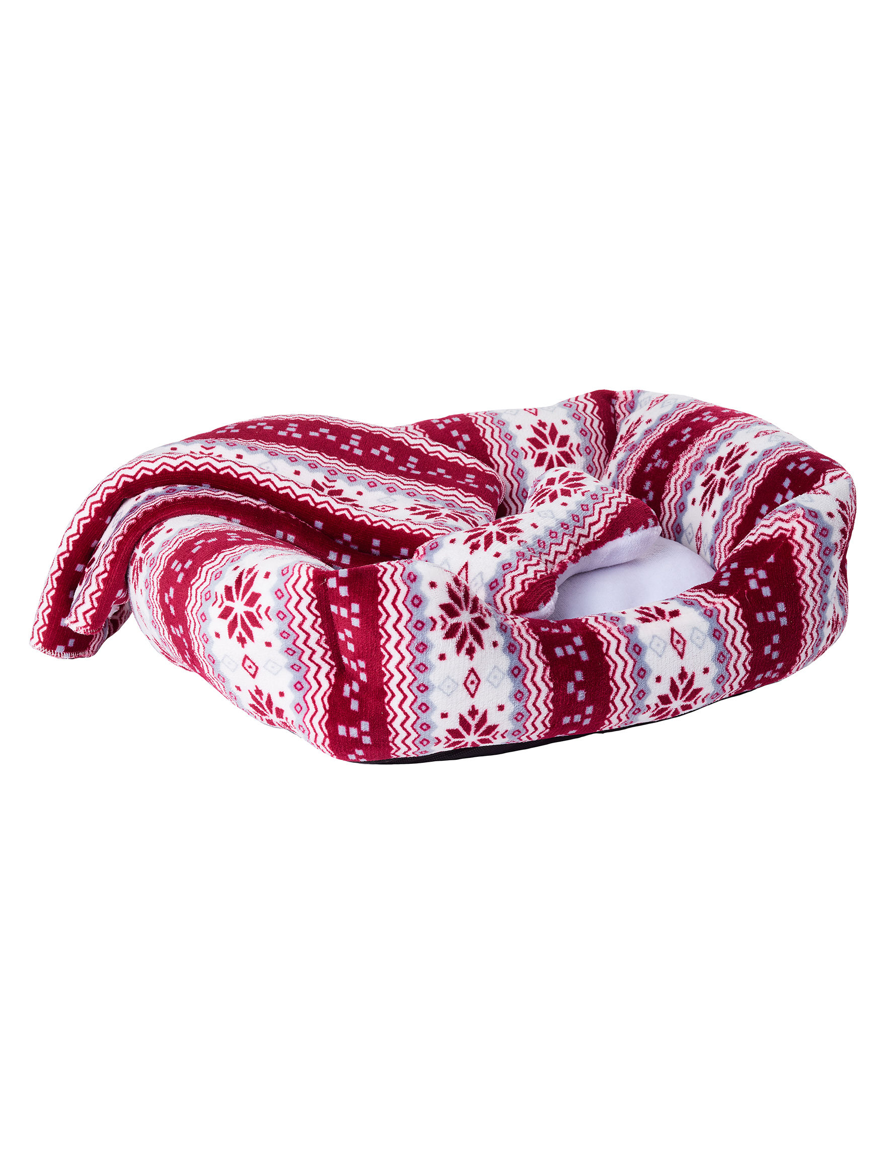 Pure Comfort Burgundy / White Pet Beds & Houses