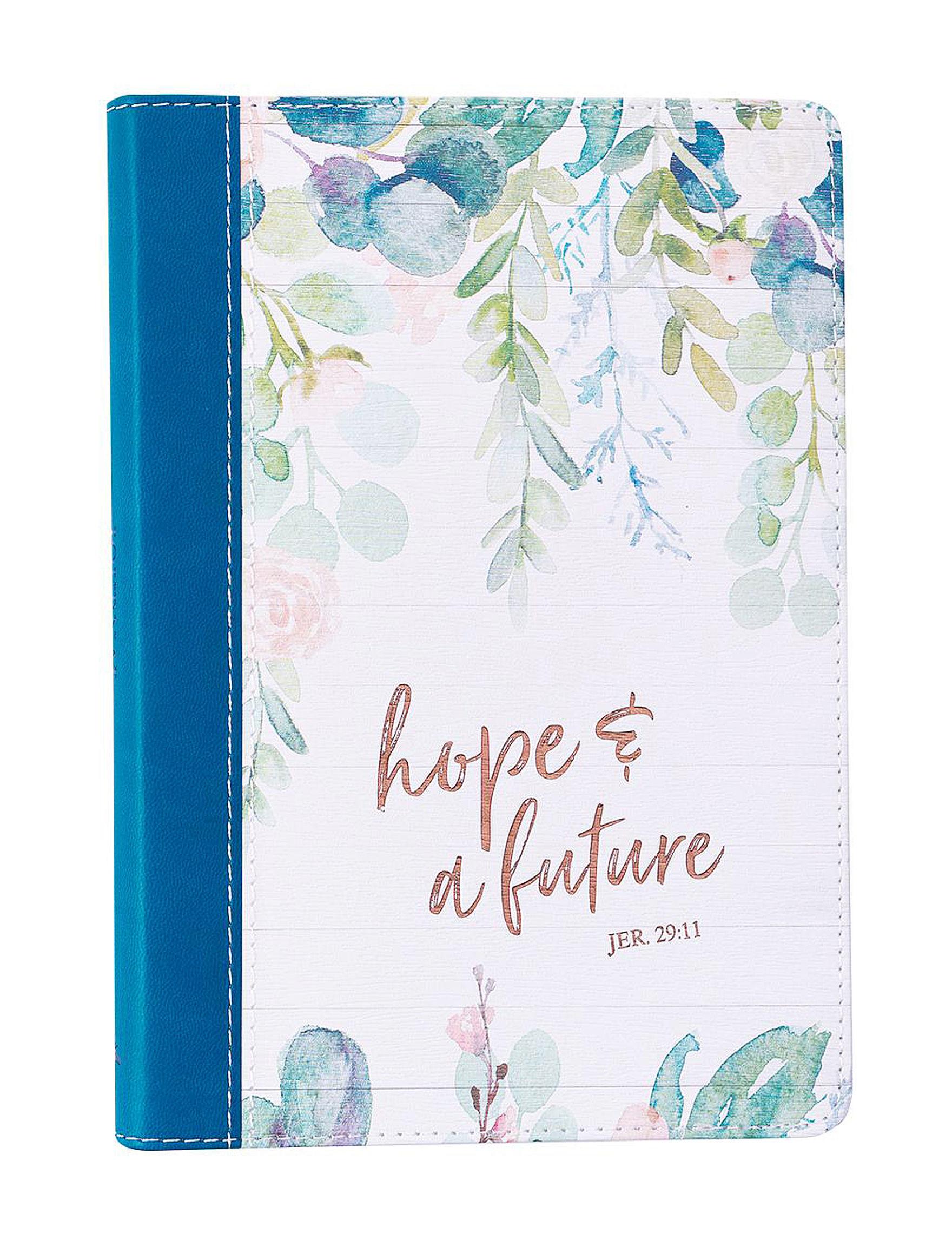 Christian Art Gifts White / Blue Journals & Notepads