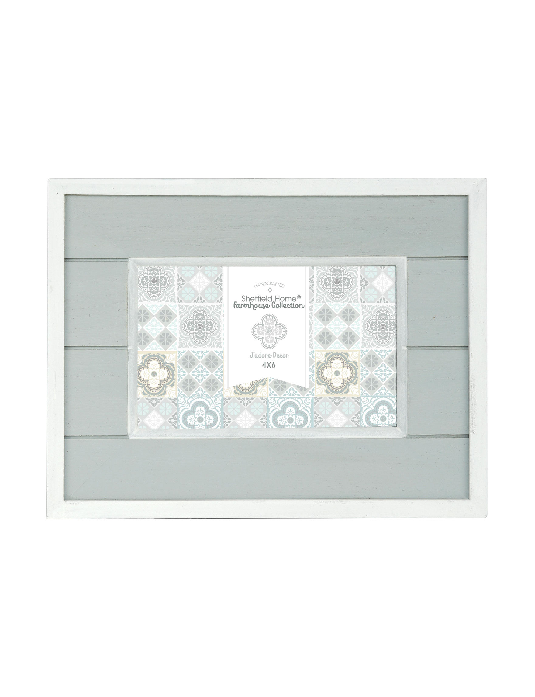 Enchante White / Green Frames & Shadow Boxes Home Accents