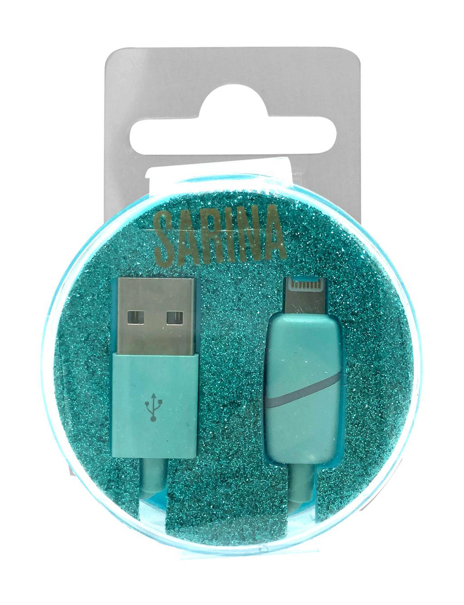 Sarina Blue Glitter Cables & Outlets Tech Accessories