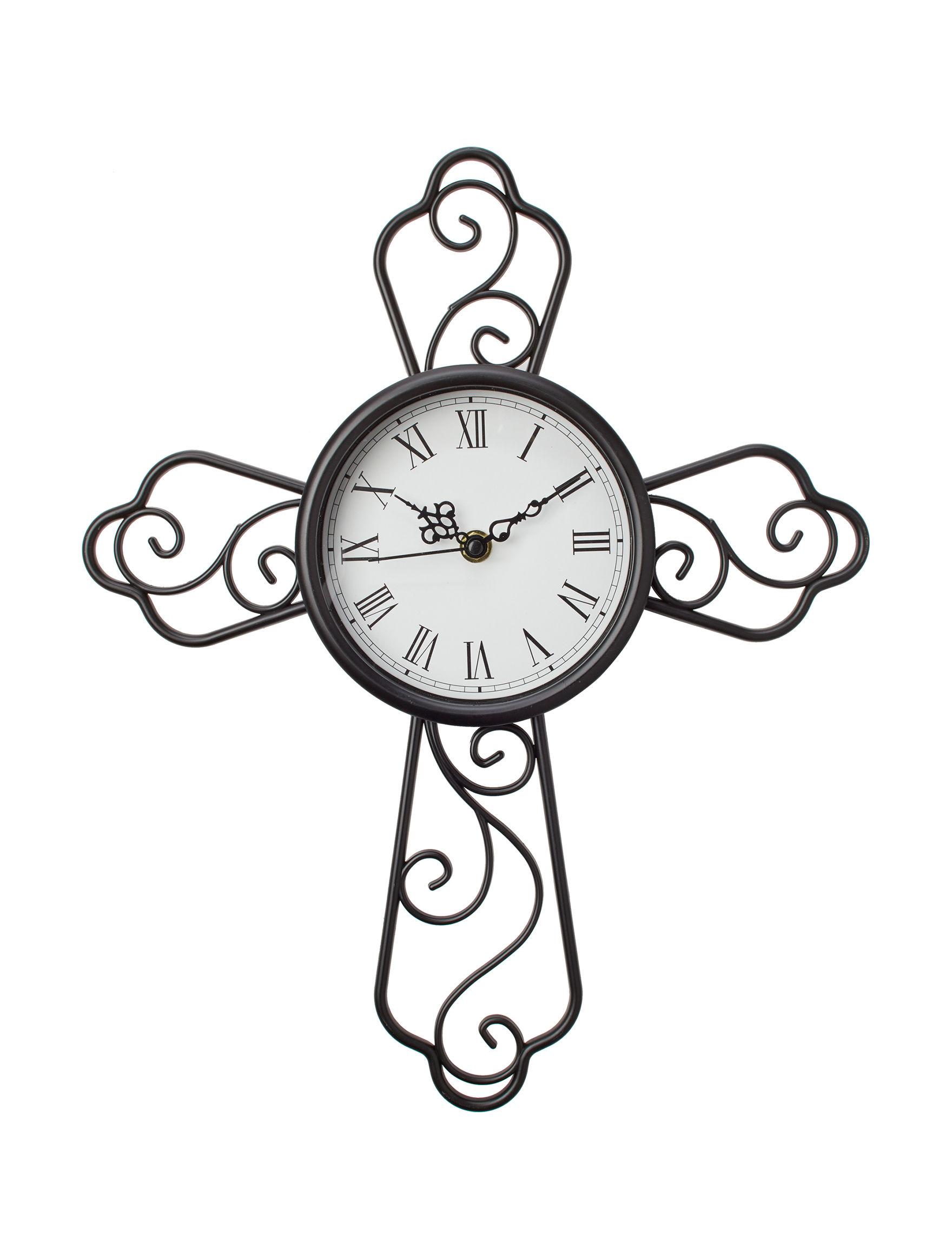 Crystal Art Gallery Black Wall Clocks Clocks Wall Decor