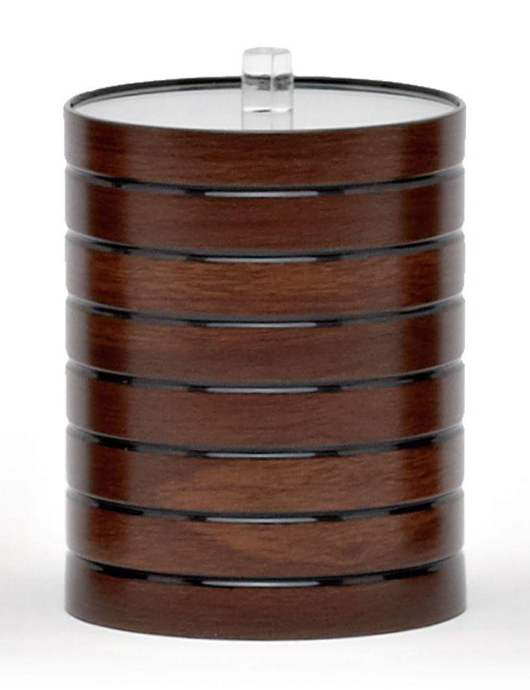 Moda Walnut Trays & Jars Bath Accessories