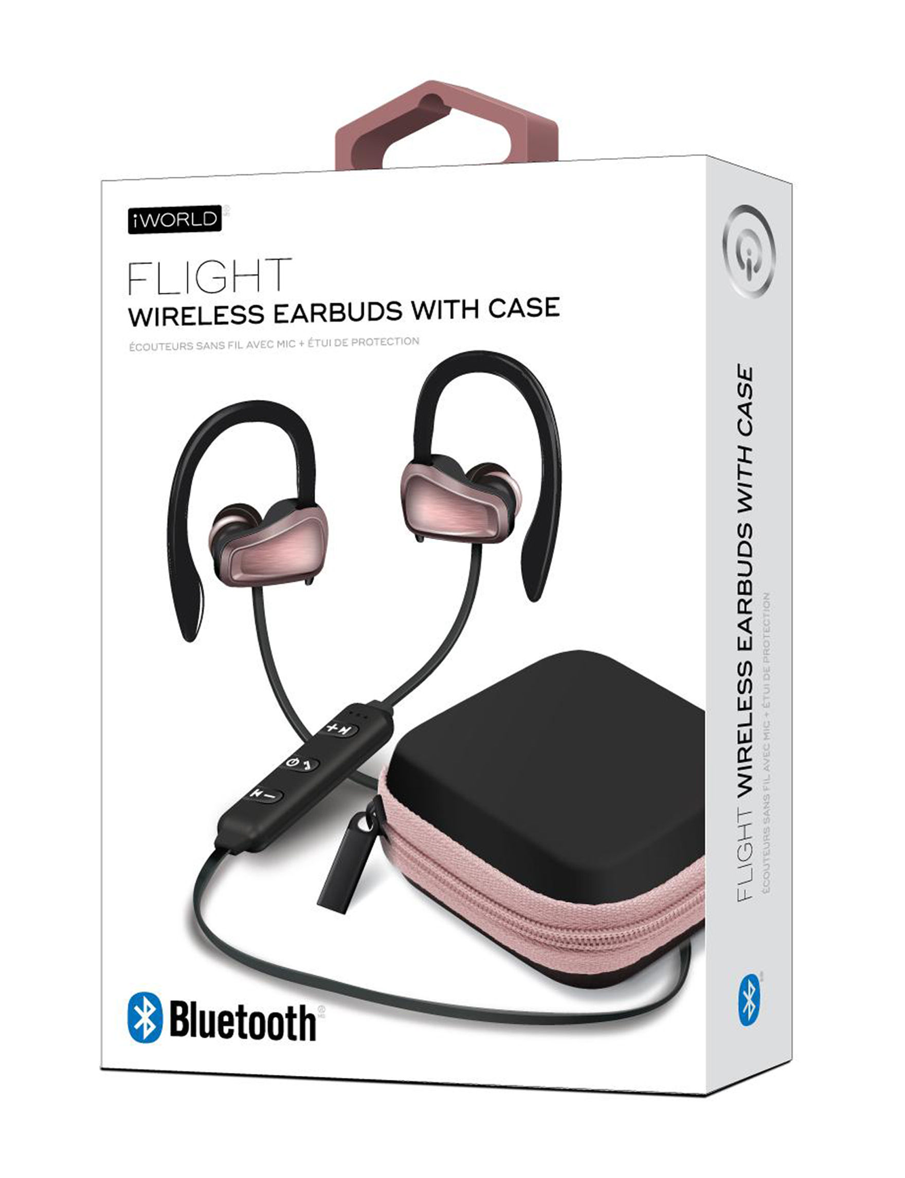 iWorld Rose Gold / Black Headphones Tech Accessories