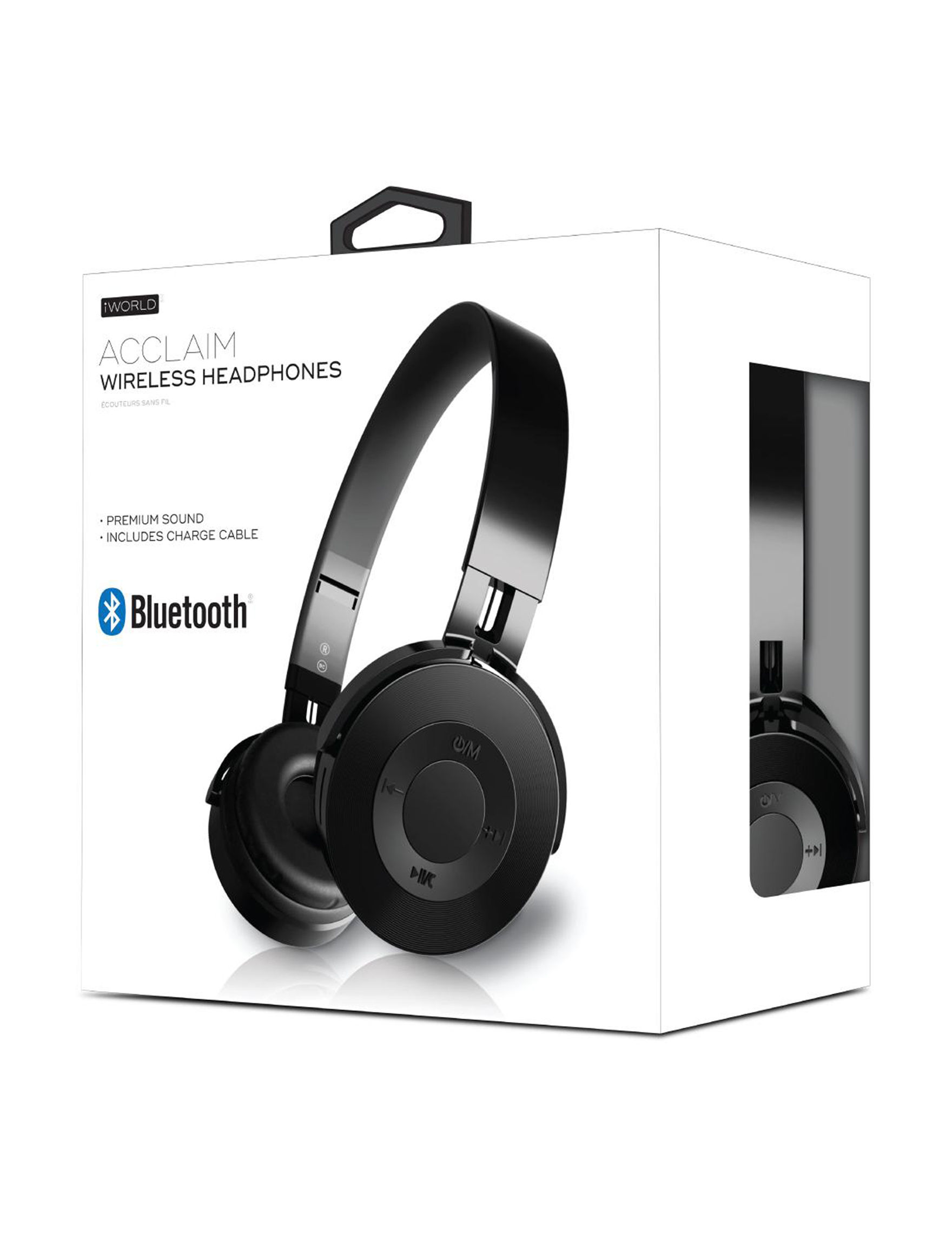iWorld Black Headphones Tech Accessories