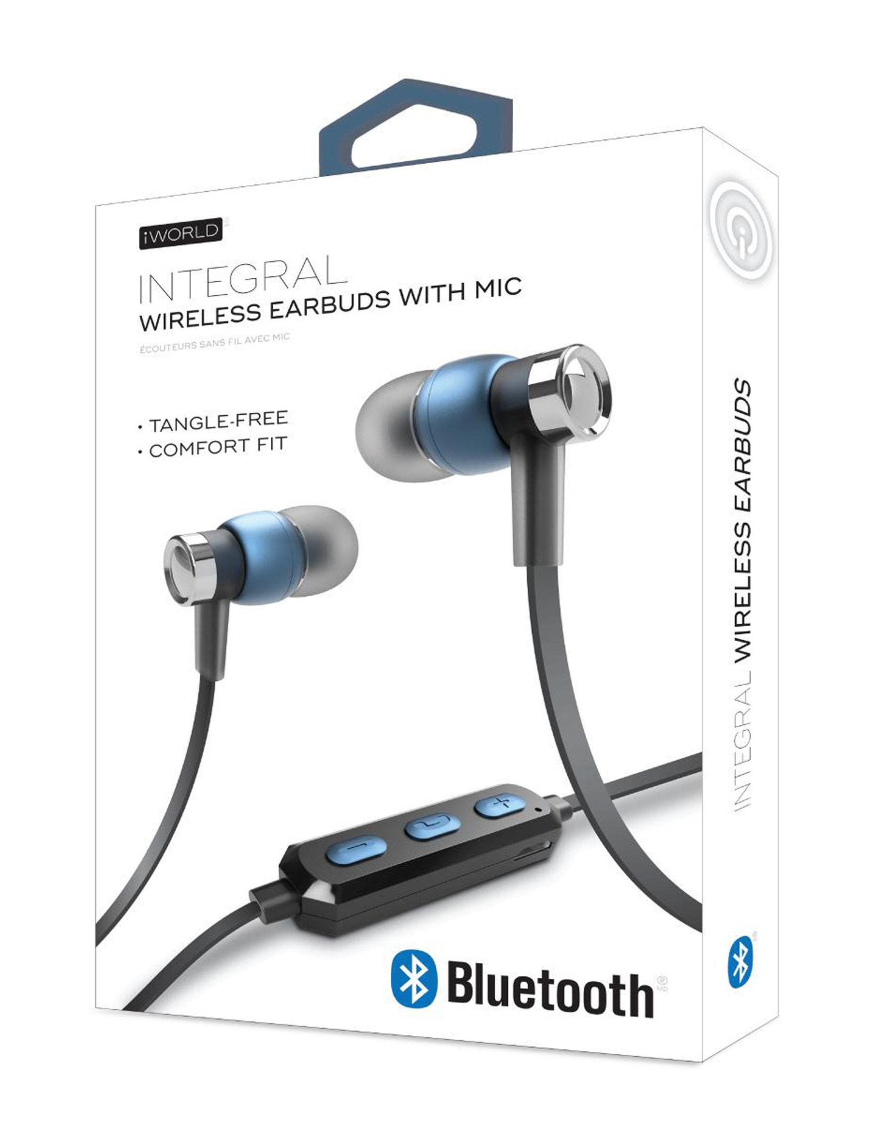iWorld Blue Headphones Tech Accessories