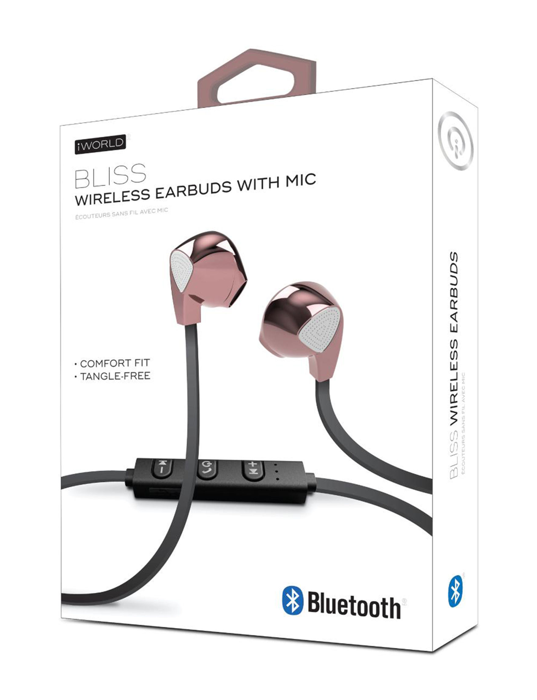 iWorld Rose Gold / Black Headphones Tech Accessories