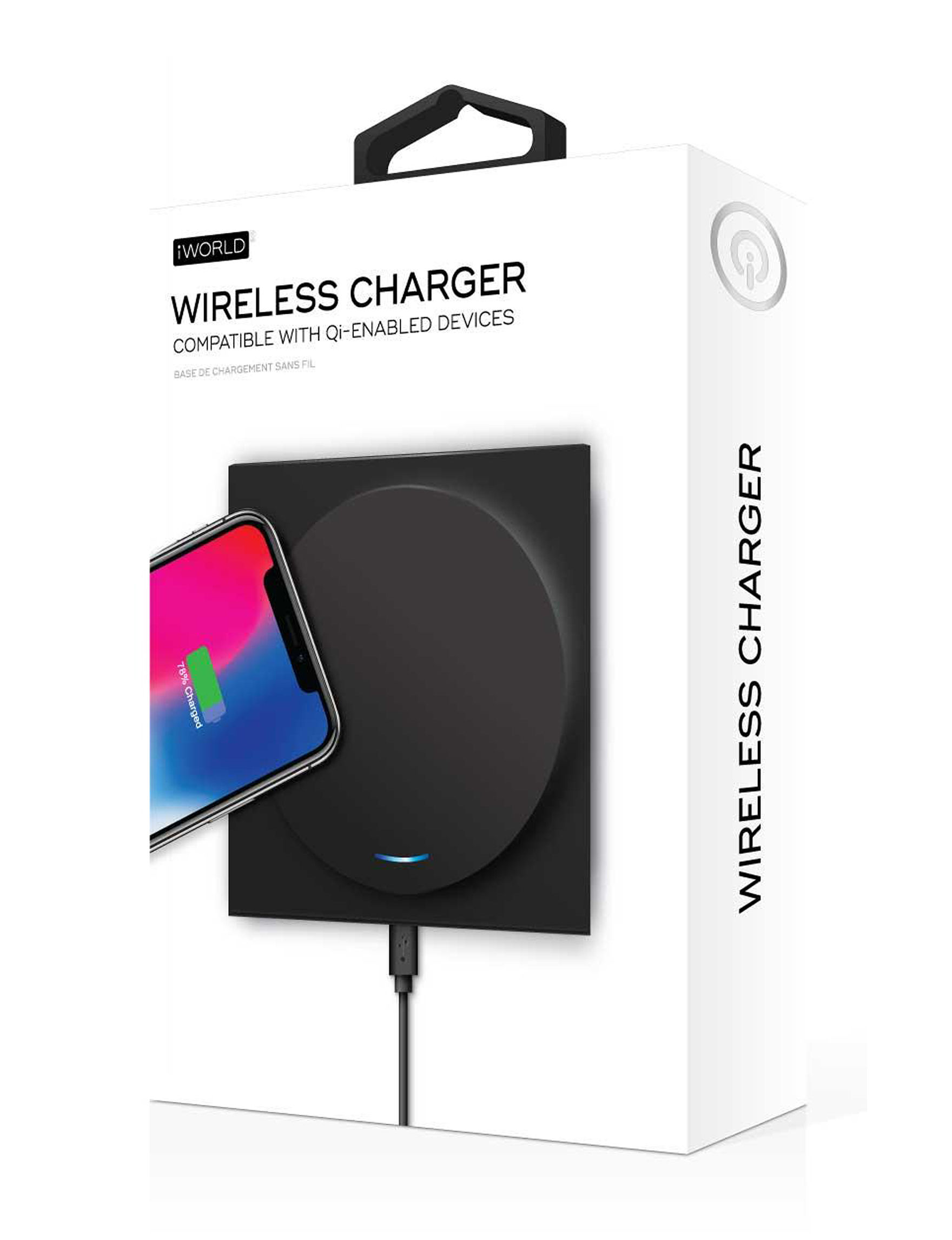 iWorld Black Battery Packs & Chargers Tech Accessories