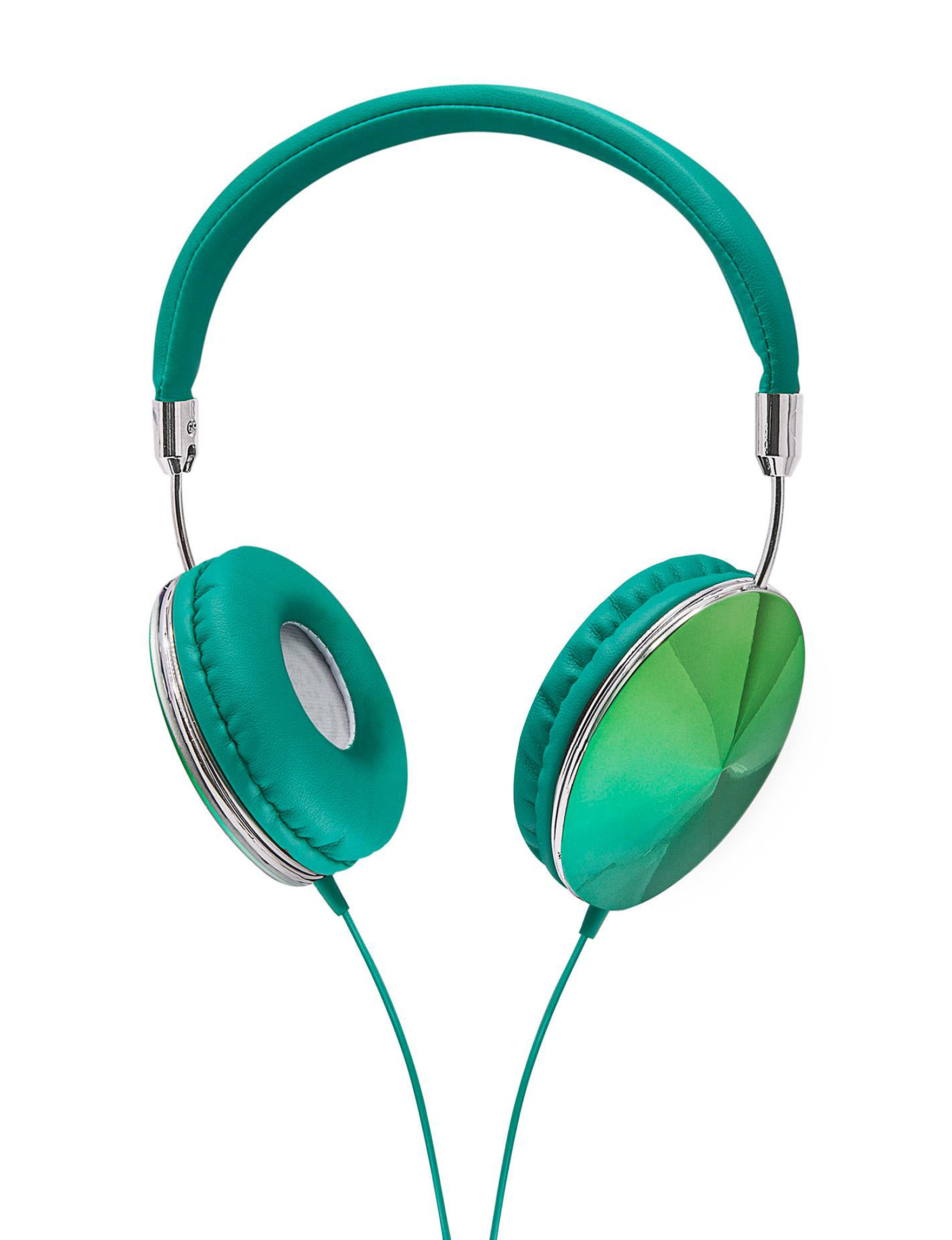 Art + Sound Teal Headphones Home & Portable Audio