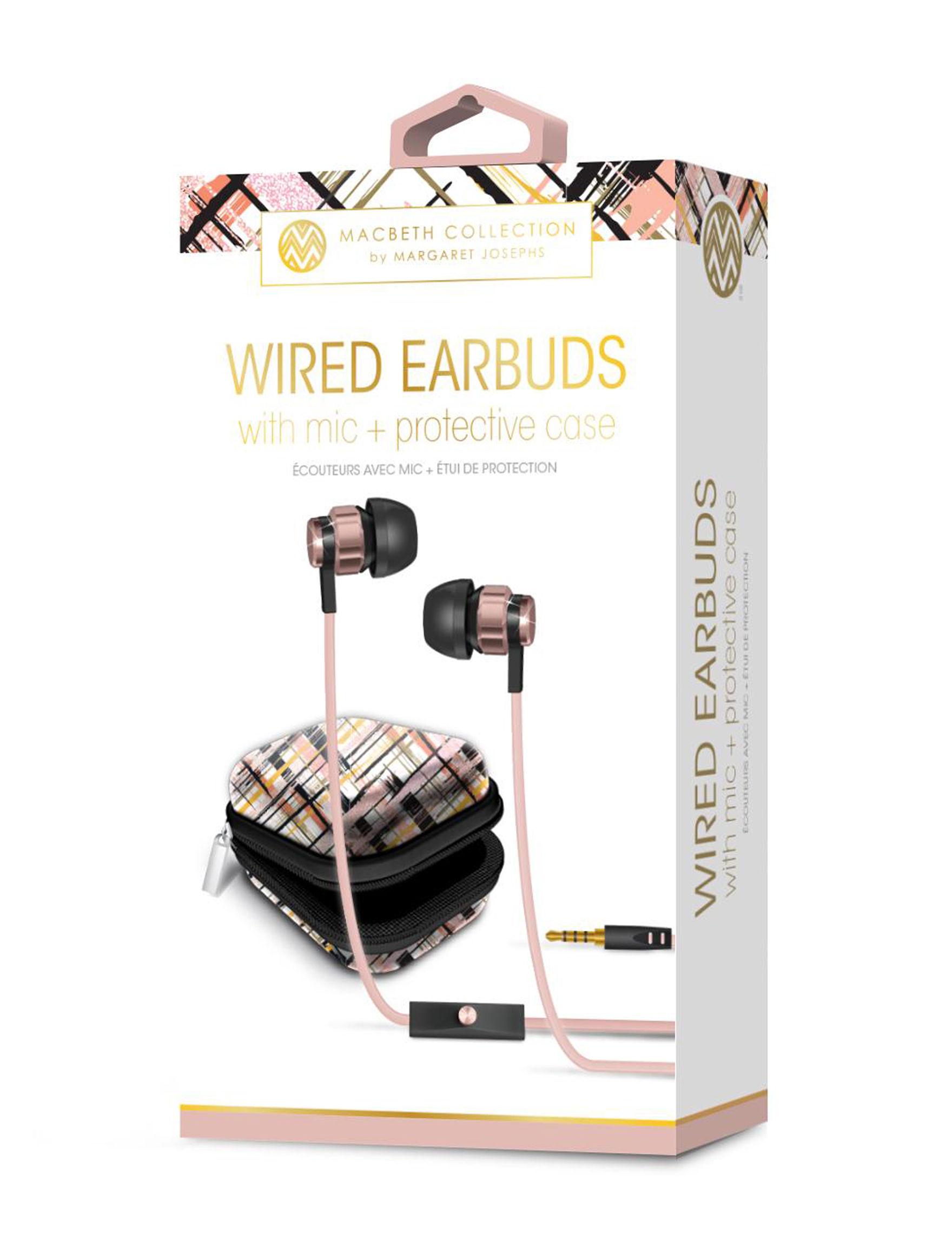 iWorld Rose Gold Headphones Tech Accessories
