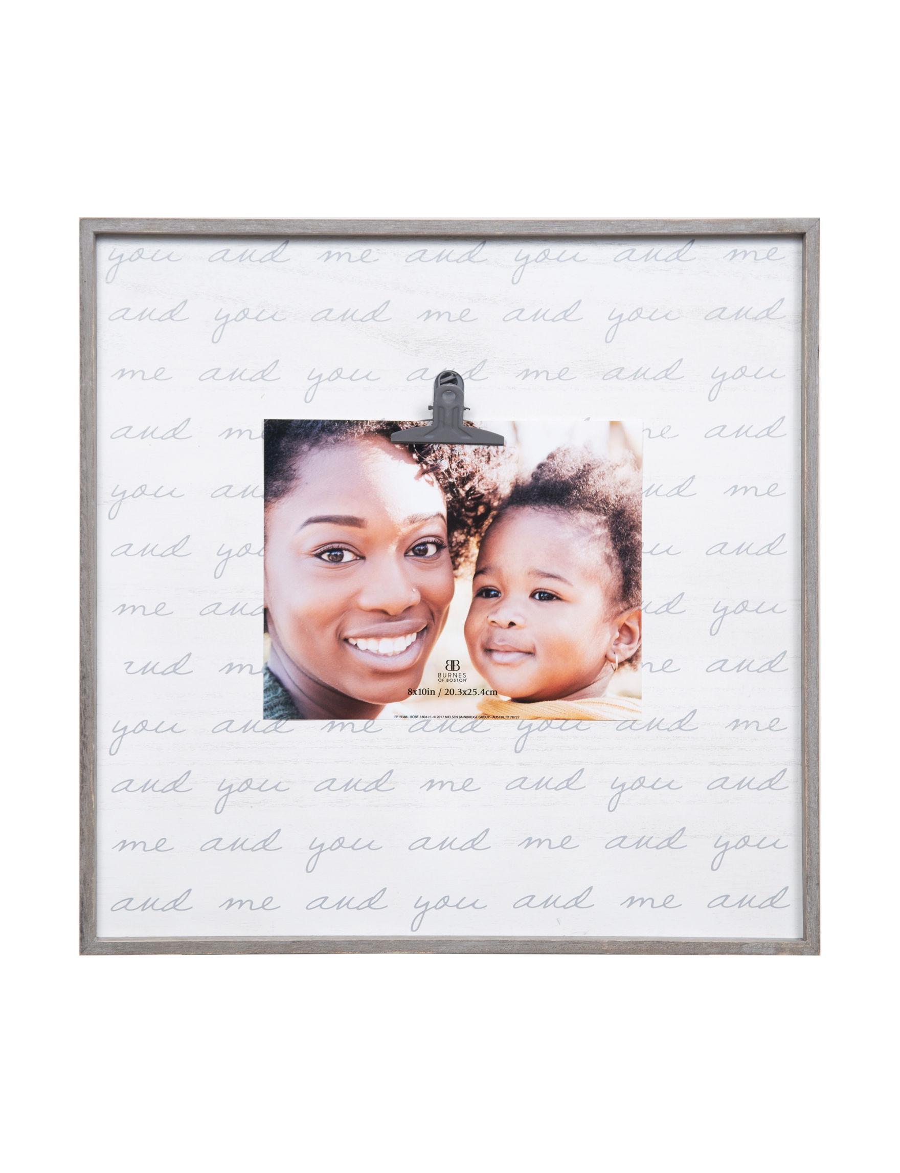 Nielsen Light Grey Frames & Shadow Boxes