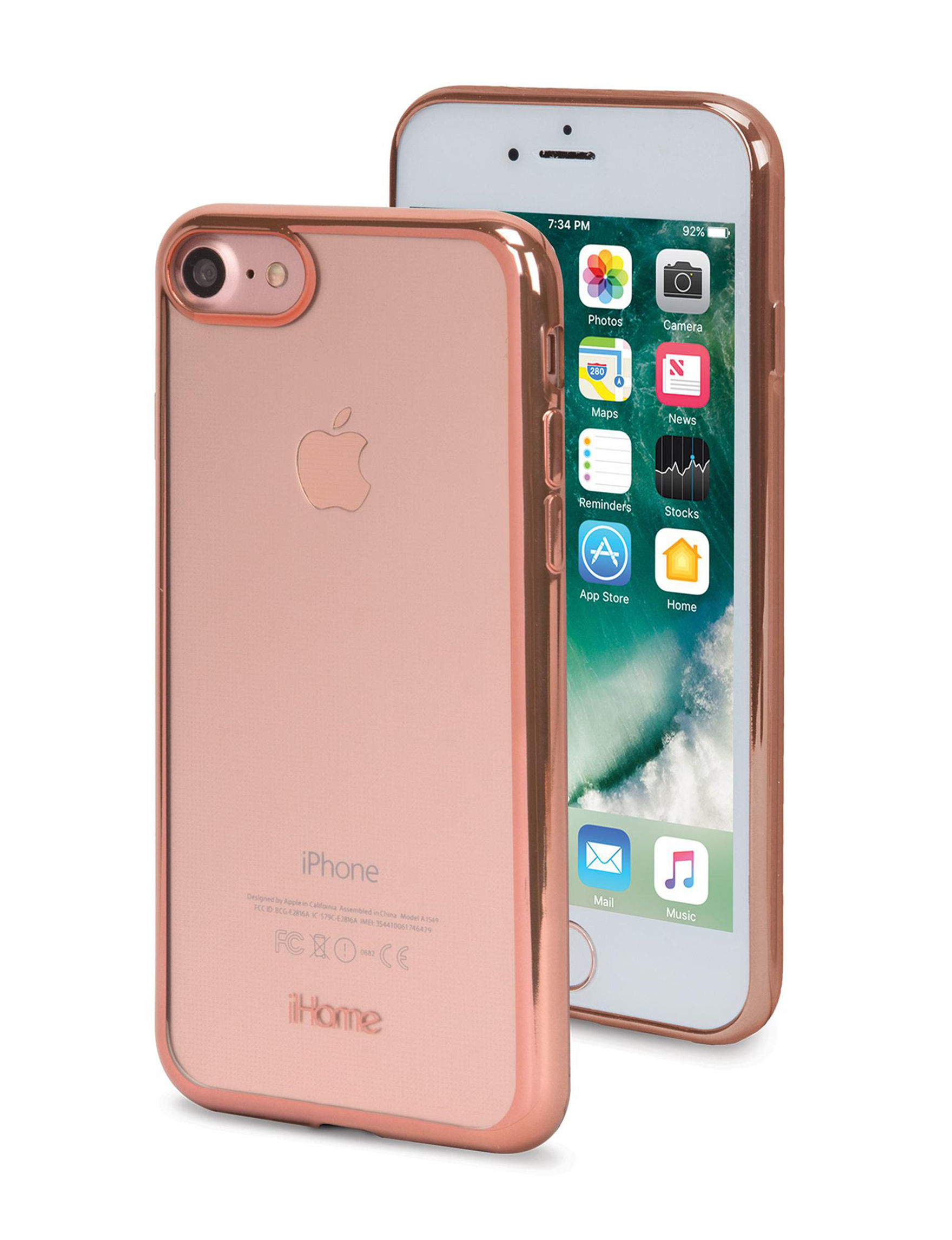 iHome Rose Gold Cases & Covers Tech Accessories