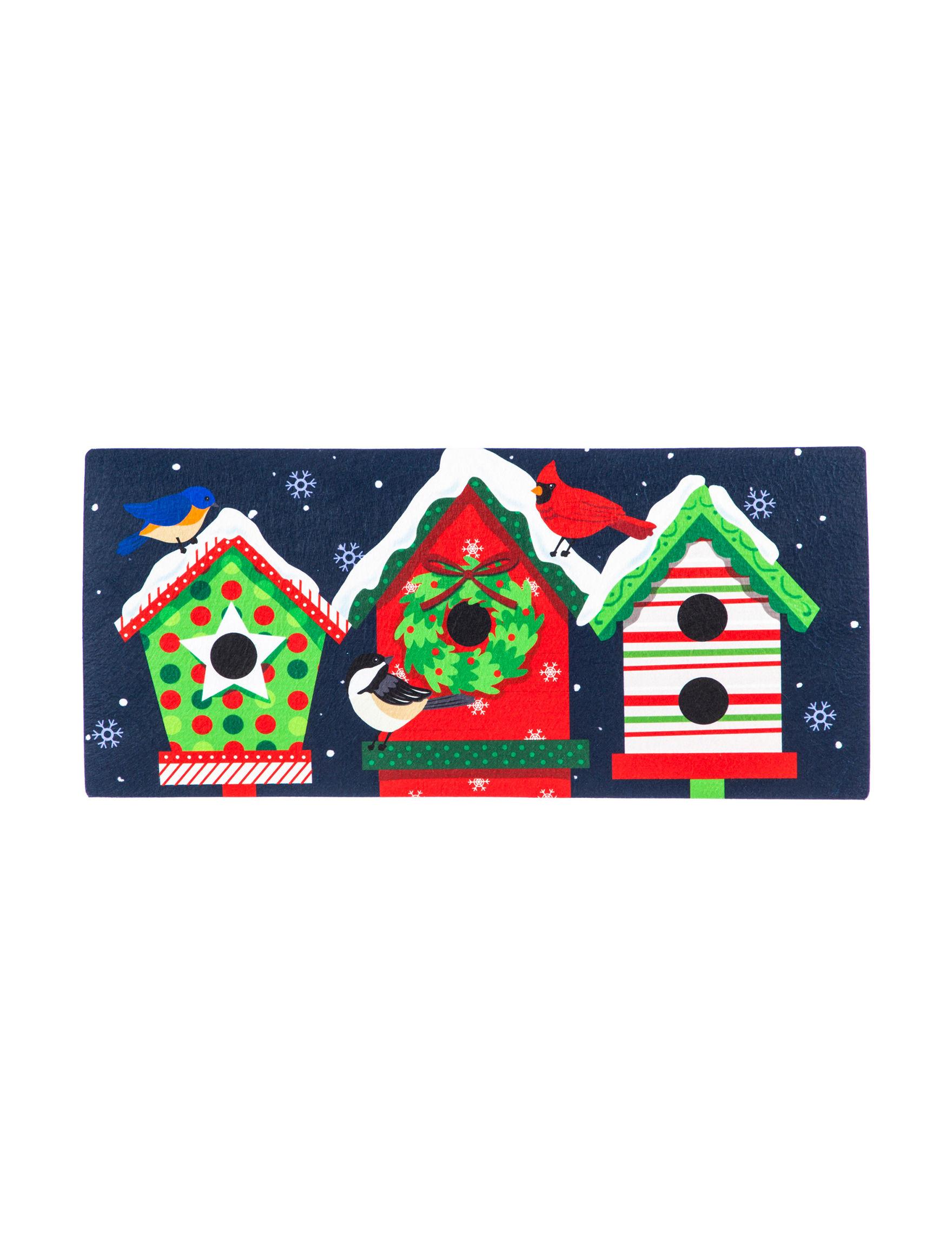 Evergreen Navy / Multi Outdoor Rugs & Doormats Outdoor Decor