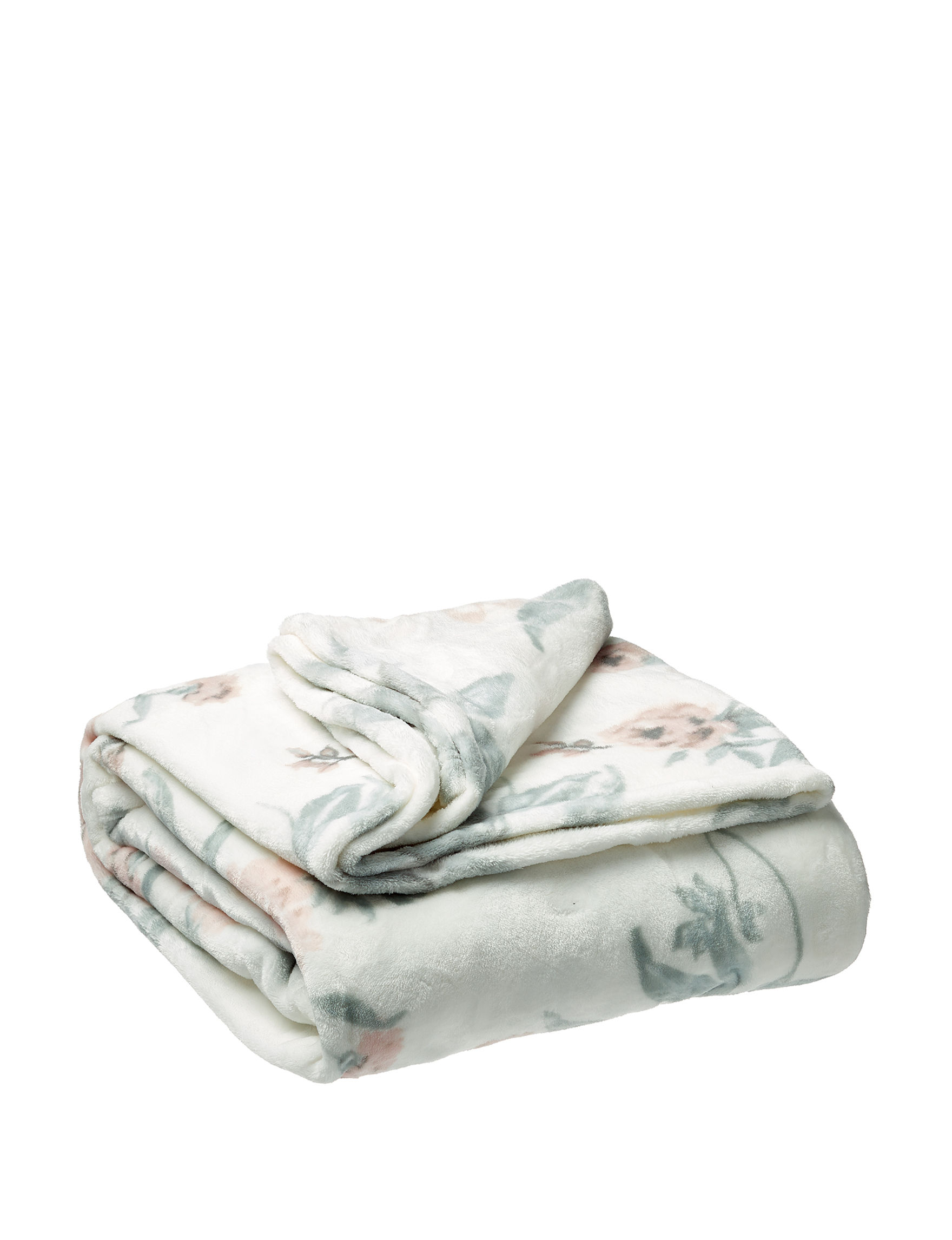 Sage White / Multi Blankets & Throws