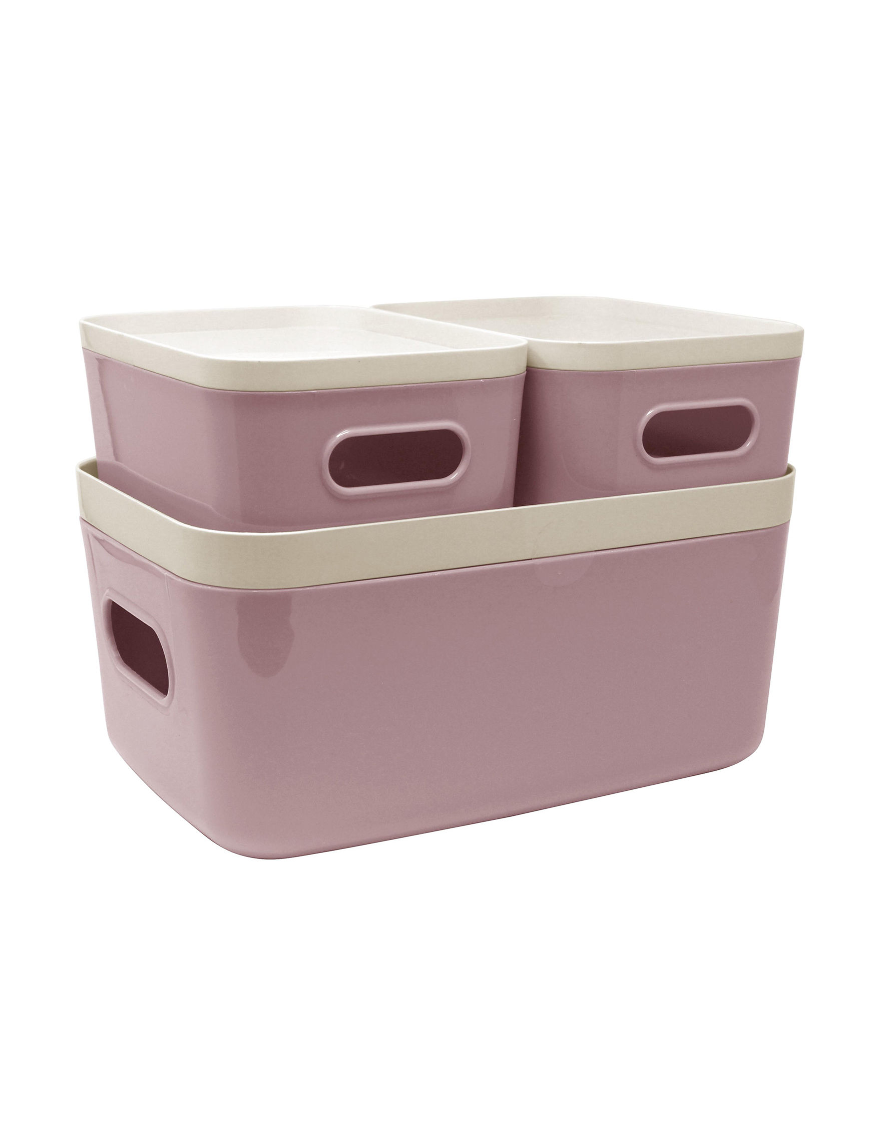 Gourmet Home Pink / White Storage Bags & Boxes Storage & Organization