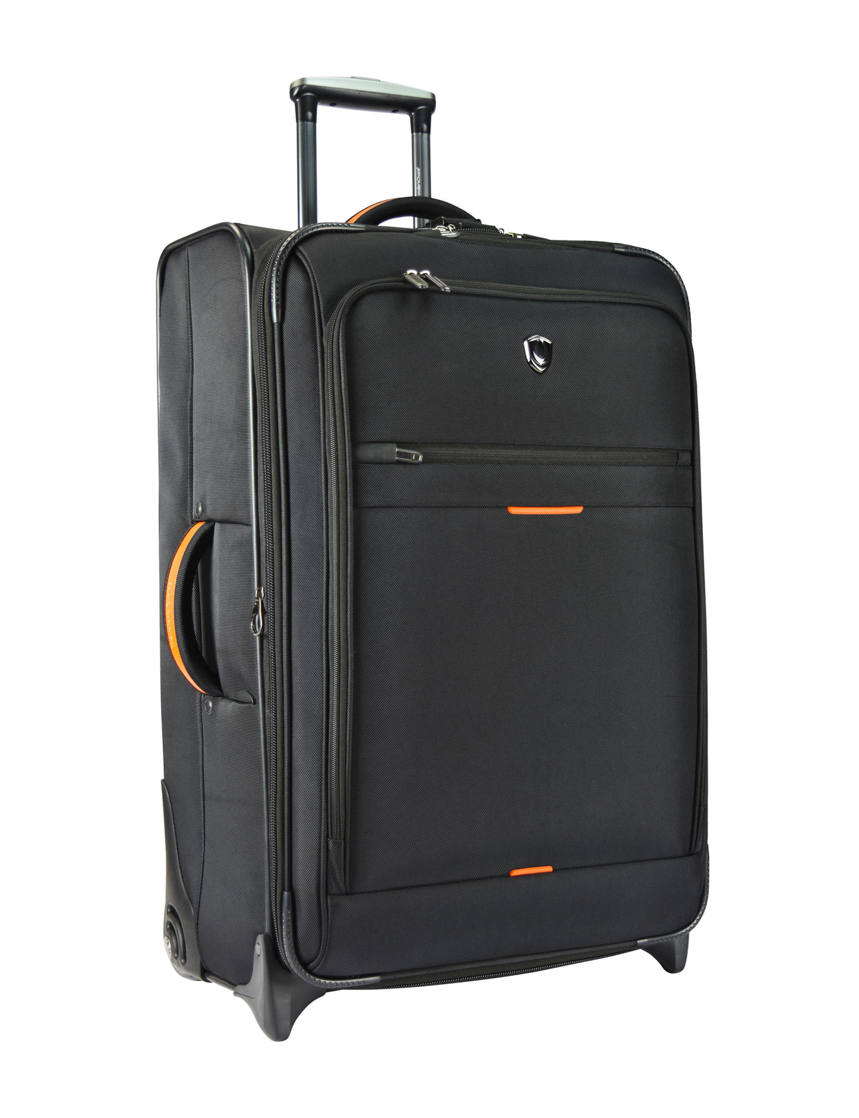 Travelers Choice Black Softside Upright Spinners