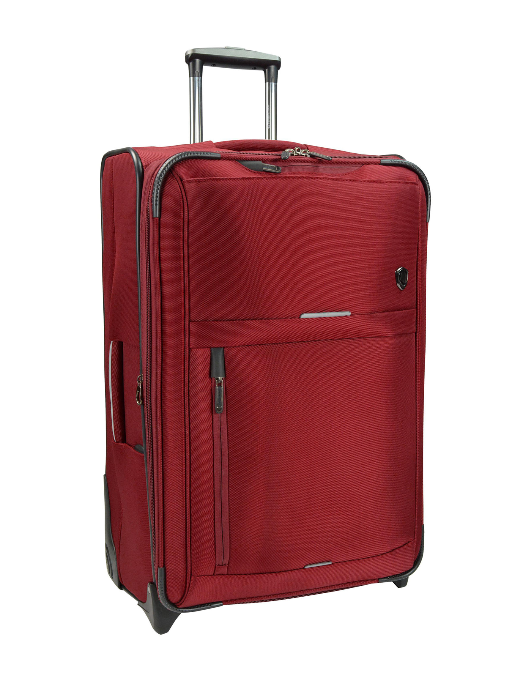 Travelers Choice Red Softside Upright Spinners