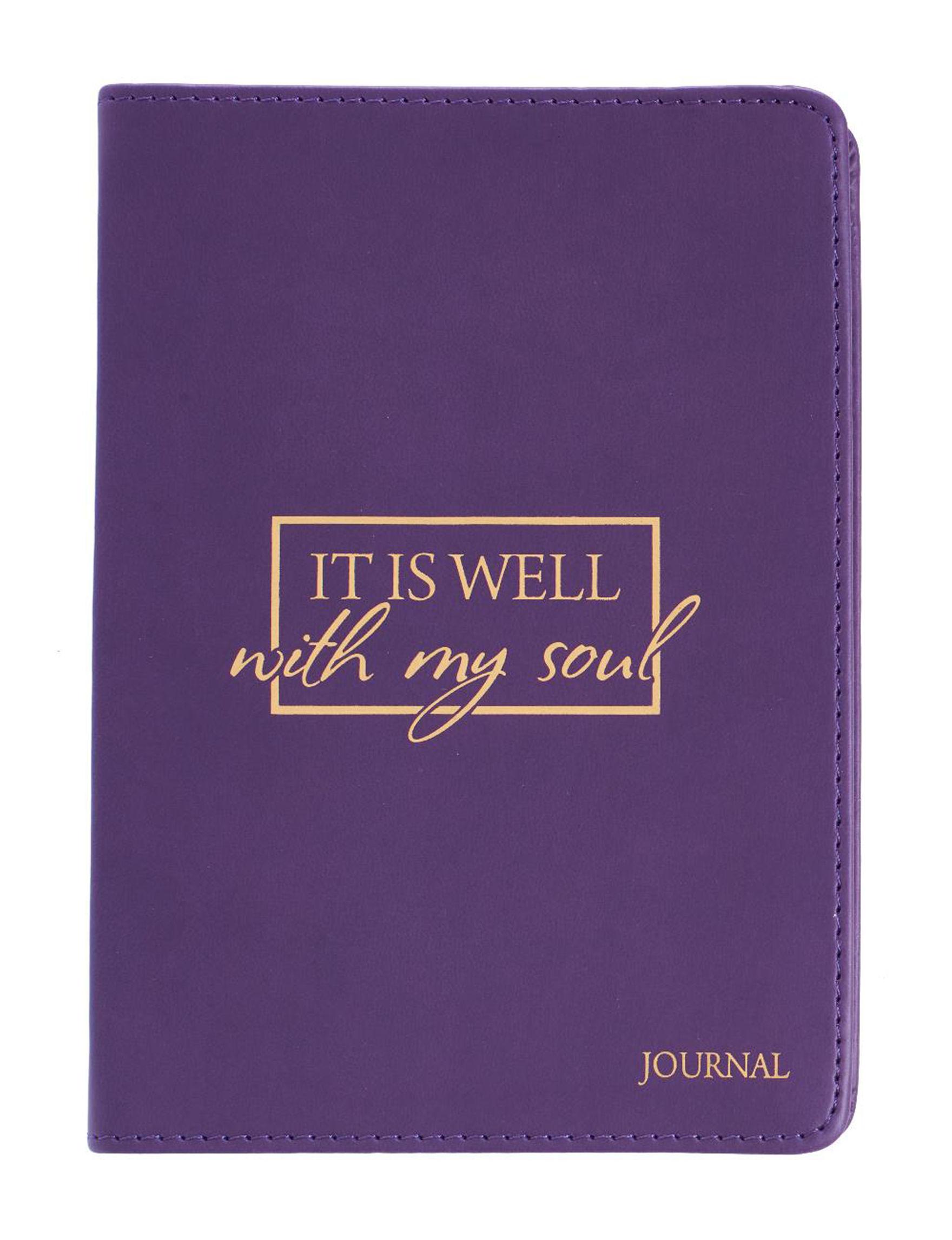 Christian Art Gifts Purple / Multi Journals & Notepads School & Office Supplies