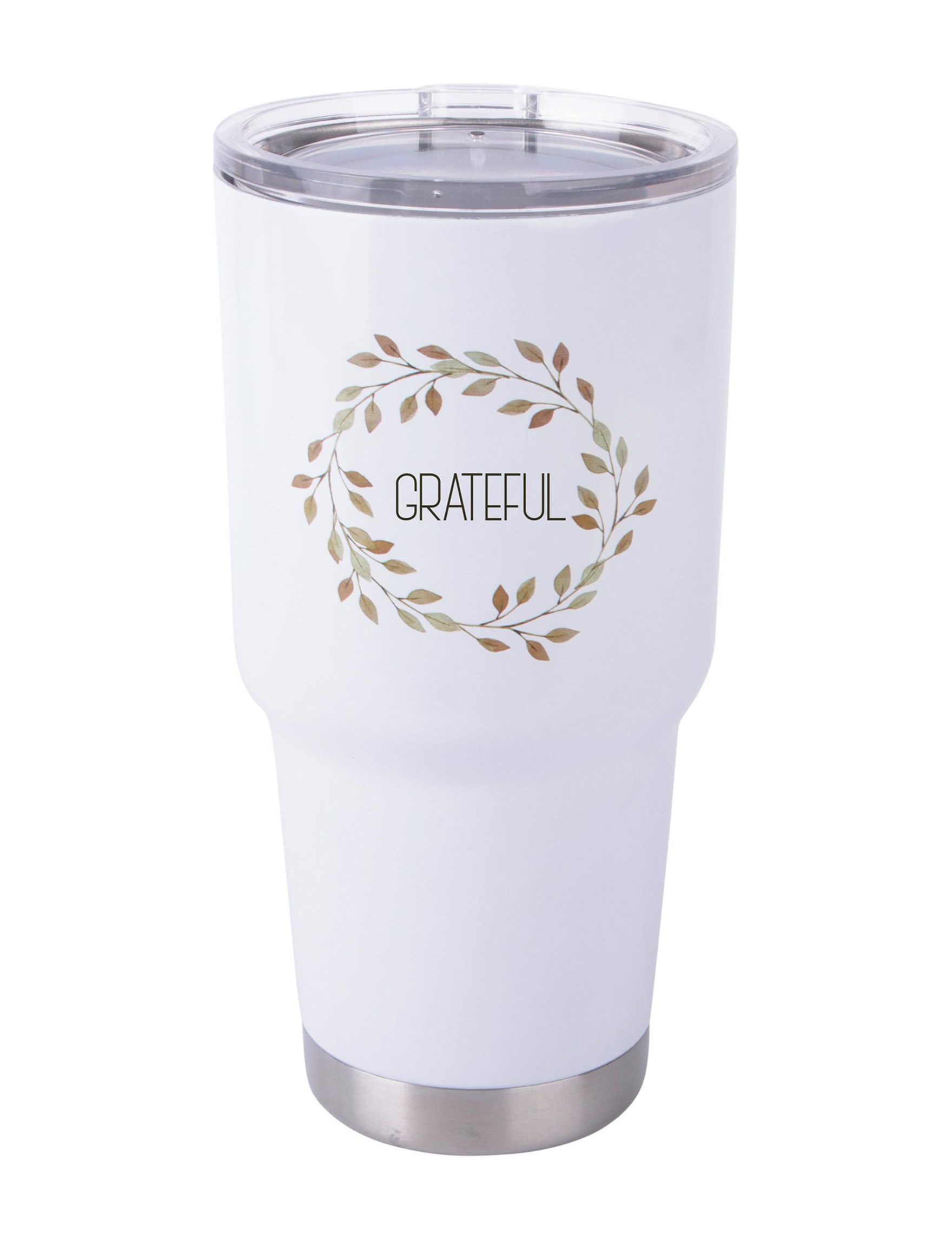 Home Essentials White Tumblers Drinkware