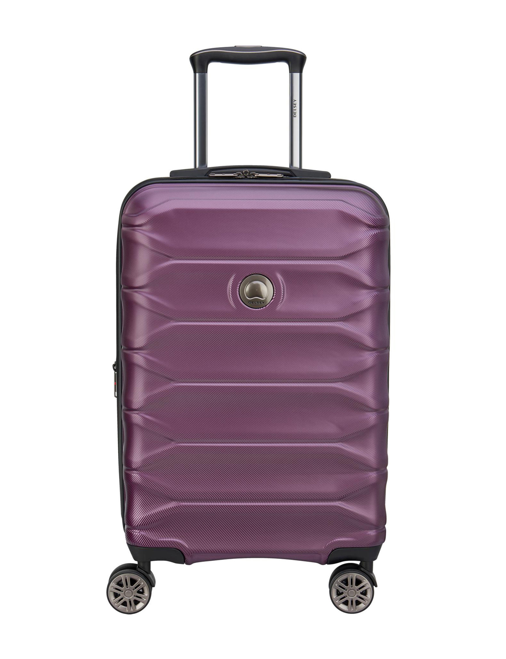 Delsey Purple Hardside Luggage Sets Upright Spinners