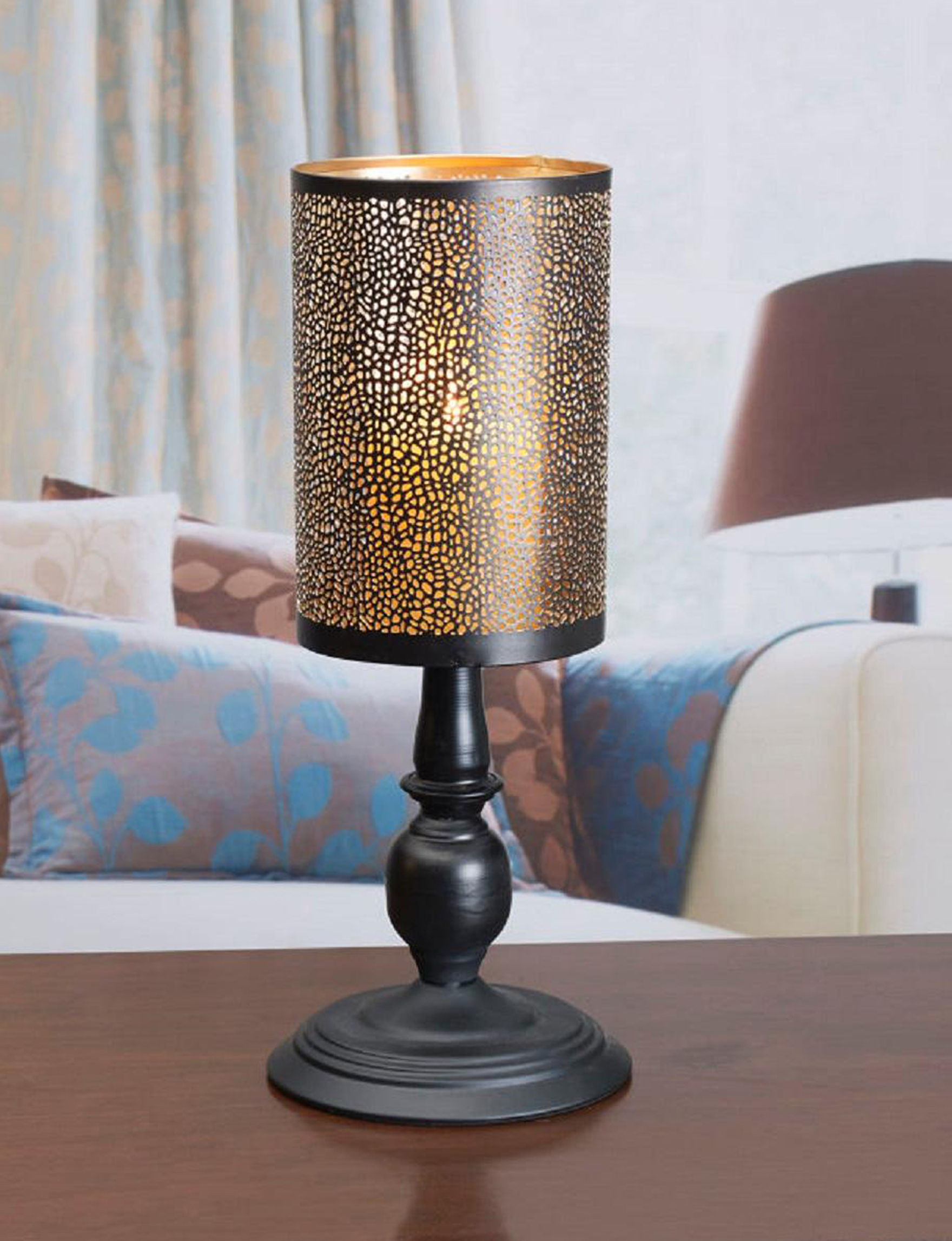 Lifetime Black / Gold Candle Holders Candles & Diffusers