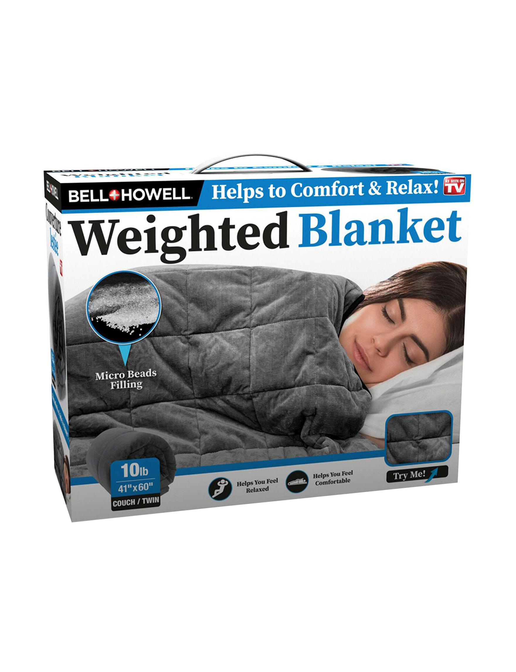 Bell & Howell Grey Blankets & Throws