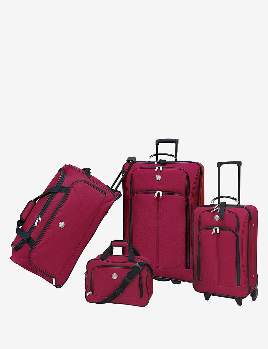 Travelers Club Luggage Red Luggage Sets