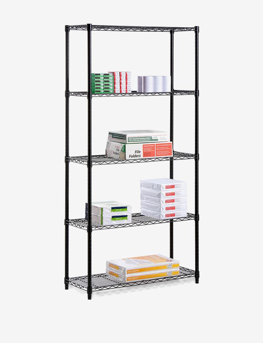 Honey-Can-Do International Black Storage Shelves