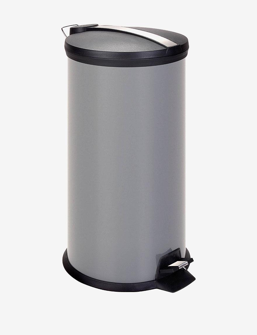 Honey-Can-Do Grey 30L Metal Step Trash Can -  - Honey-Can-Do International