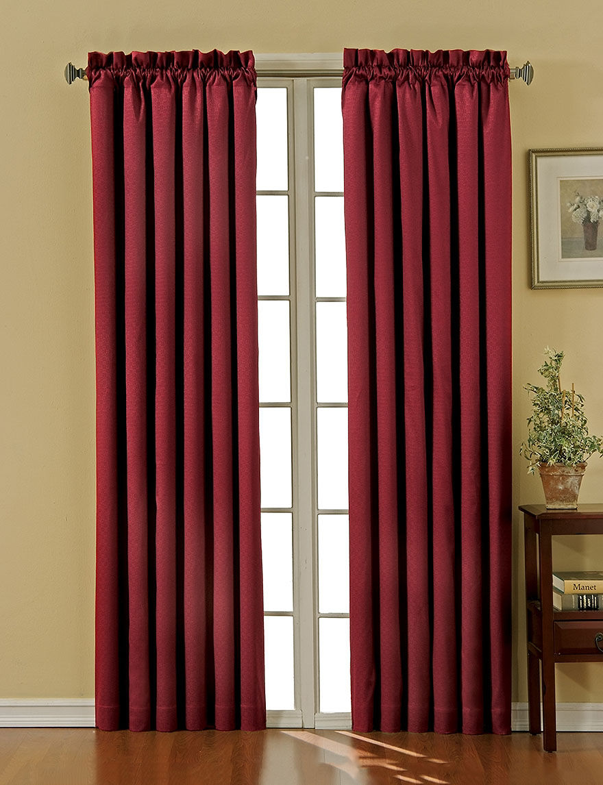Eclipse Burgundy Curtains & Drapes Window Treatments