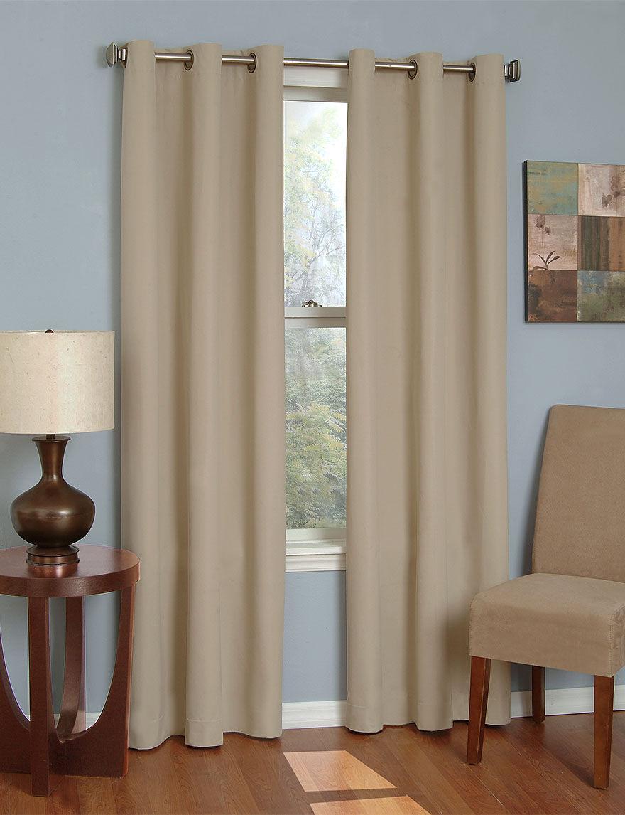 Eclipse Beige Curtains & Drapes Window Treatments