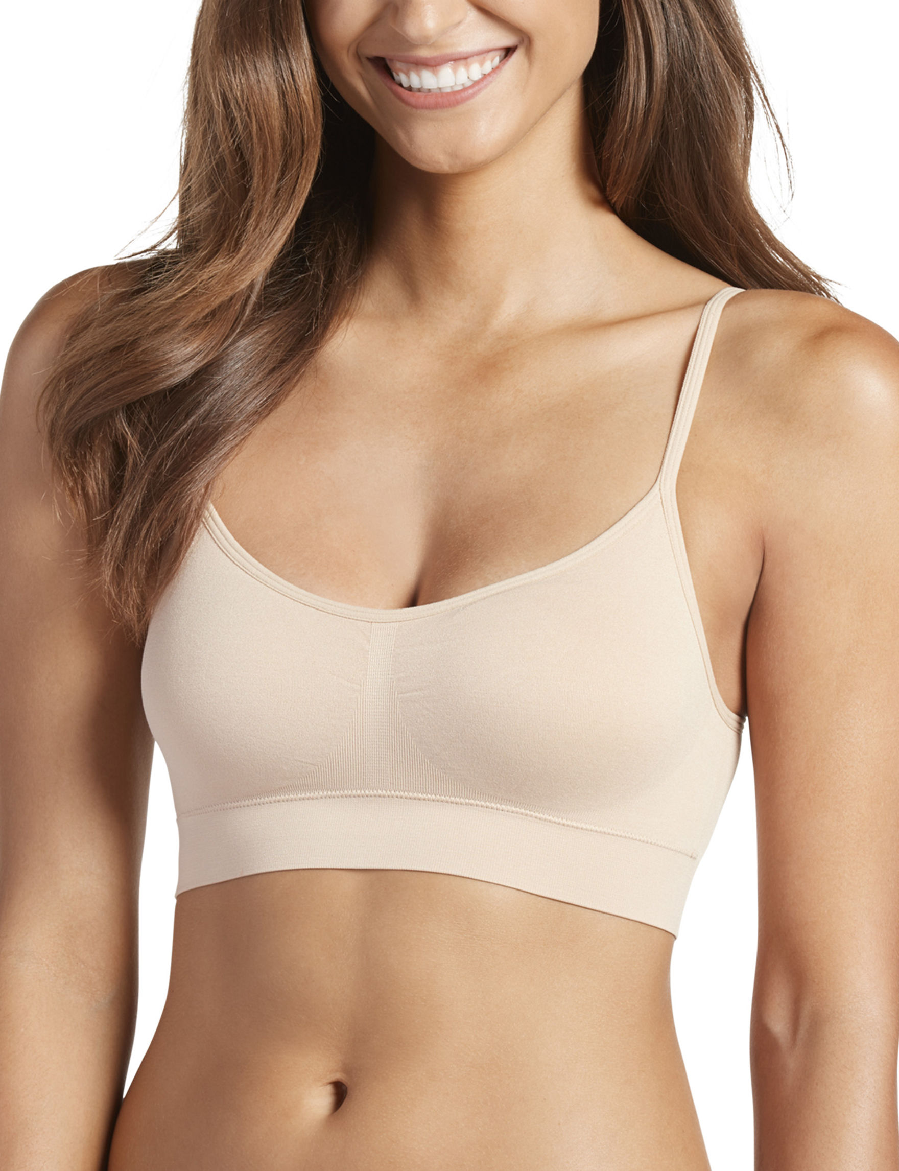 Jockey Beige Bras Camisoles & Tanks Seamless Sports Bra