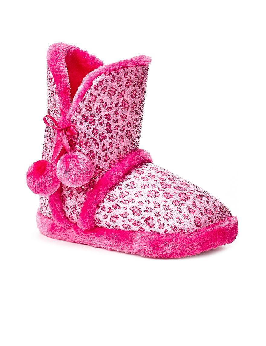 Sweet Hot Pink Slipper Boots & Booties