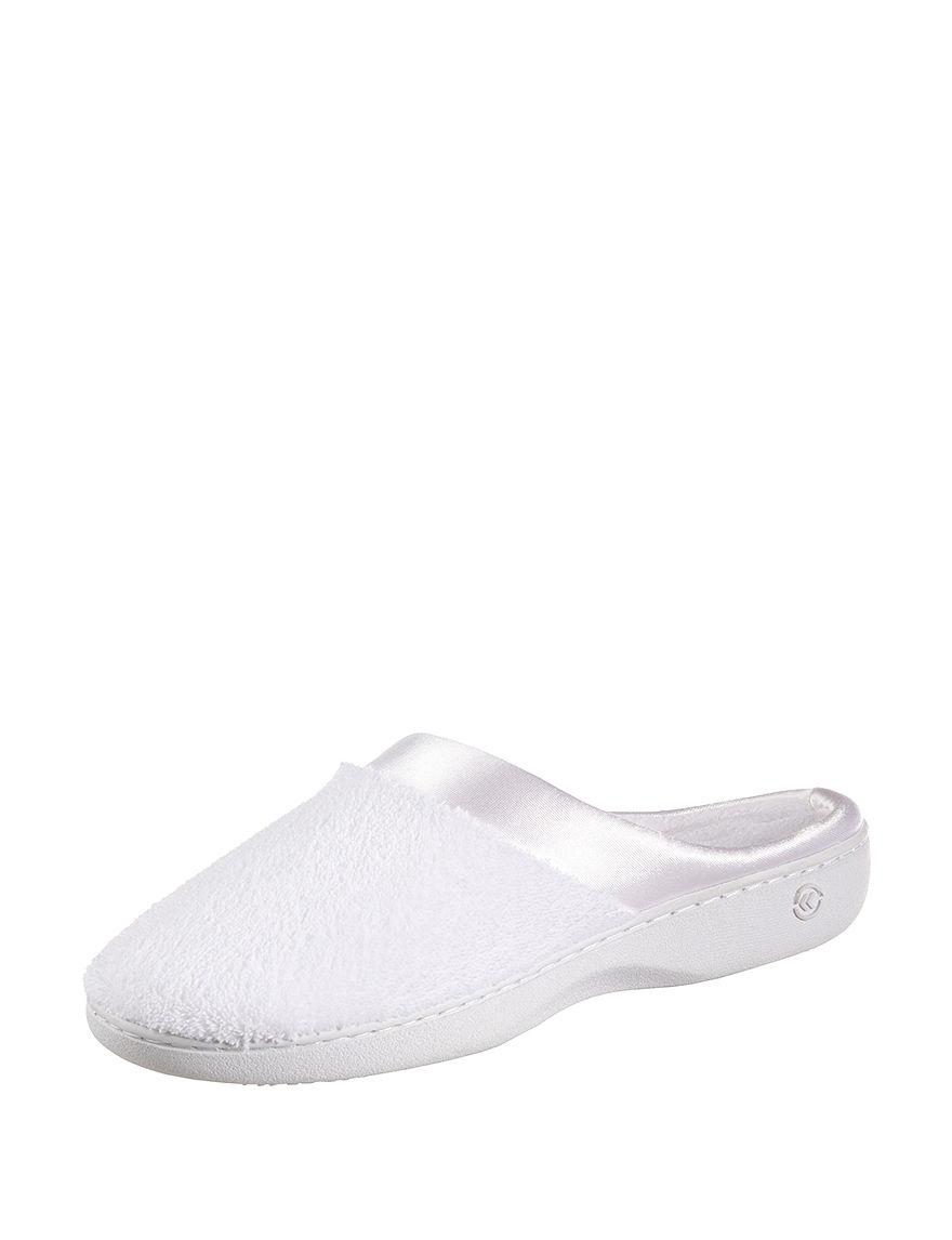 Isotoner White Slipper Shoes