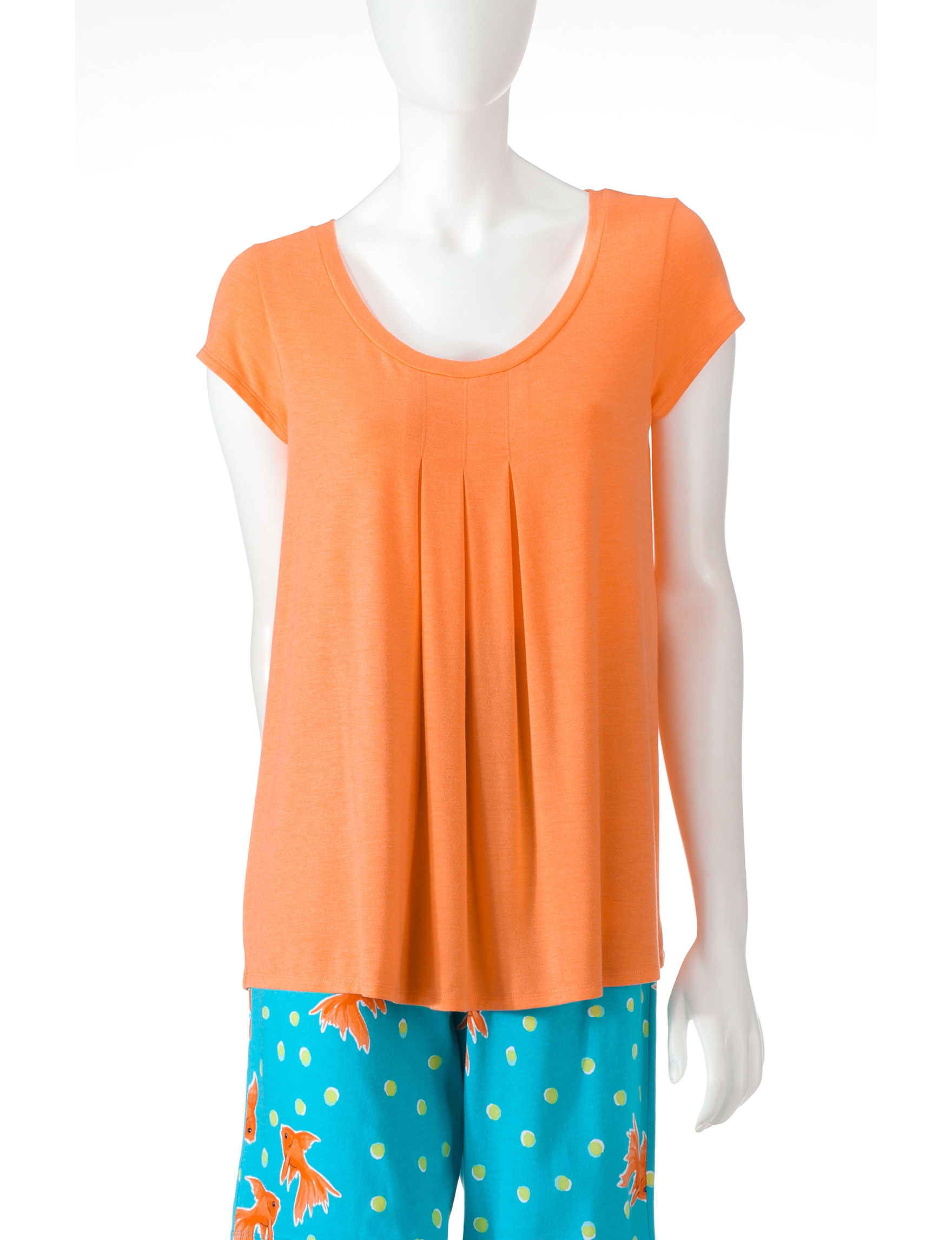 Hue Orange Pajama Tops