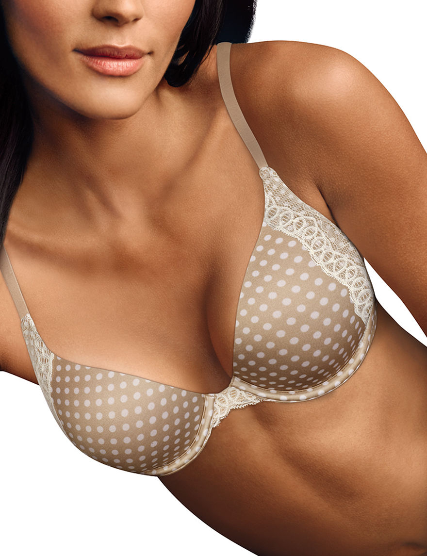 Maidenform Tan / White Bras Push Up Underwire