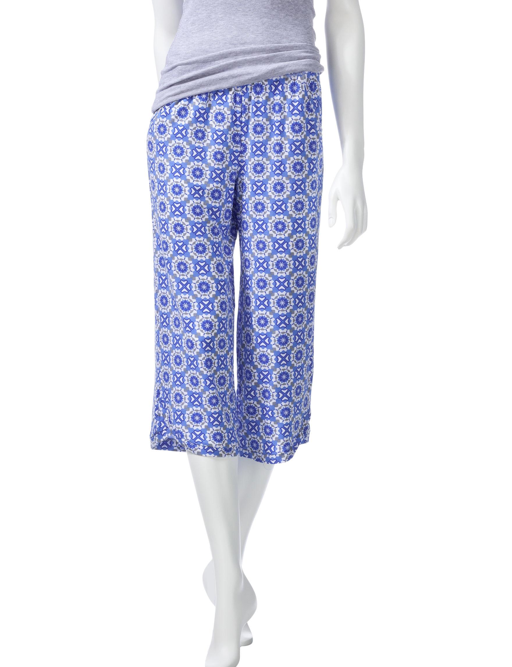 Cool Girl Blue / Grey Pajama Bottoms