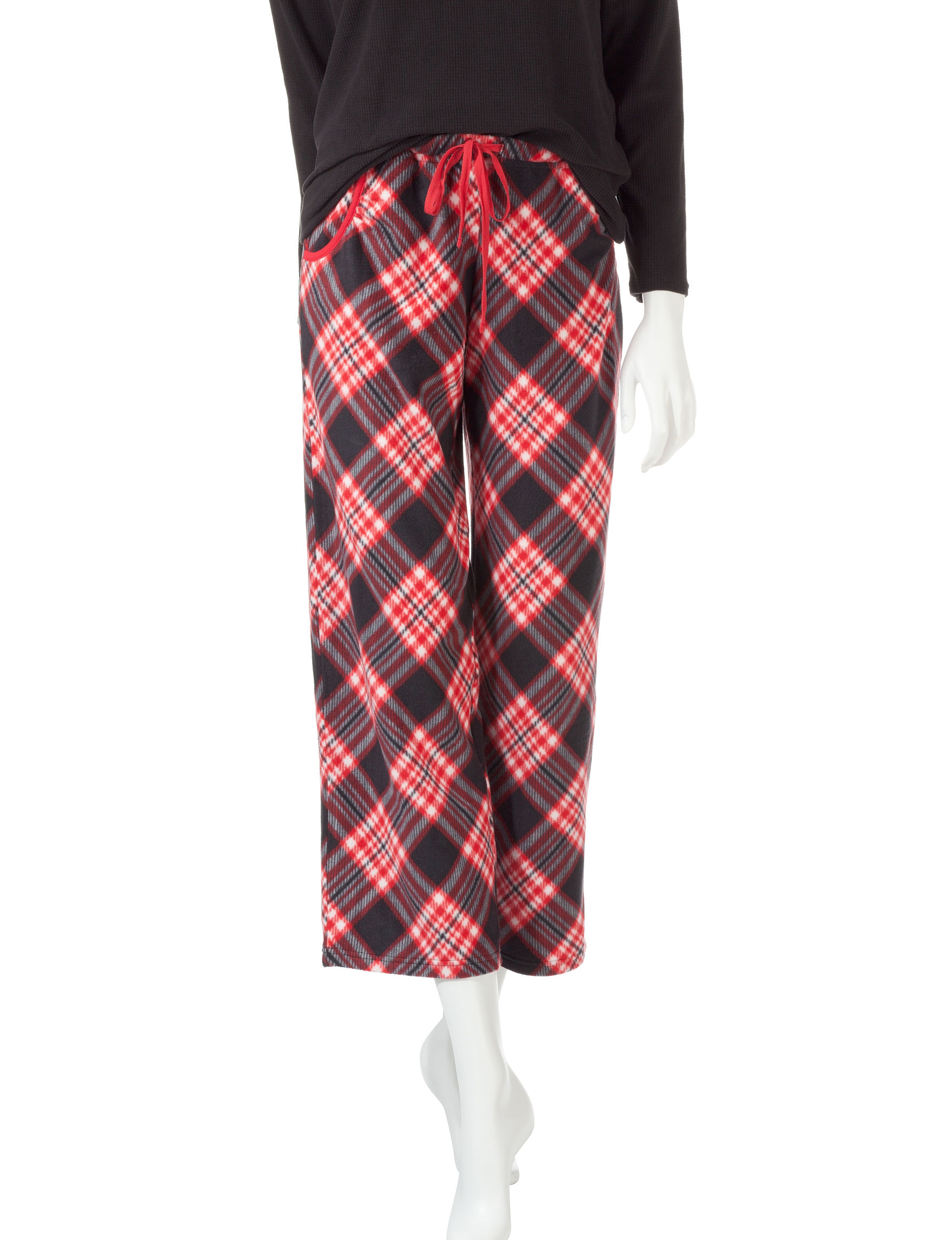 Goodnight Kiss Red / Black Pajama Bottoms