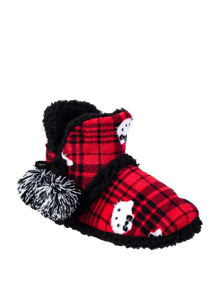 Hello Kitty Red Plaid Slipper Boots & Booties