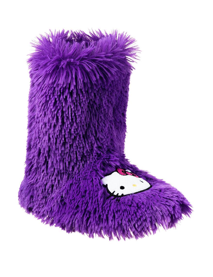 Hello Kitty Purple Slipper Boots & Booties