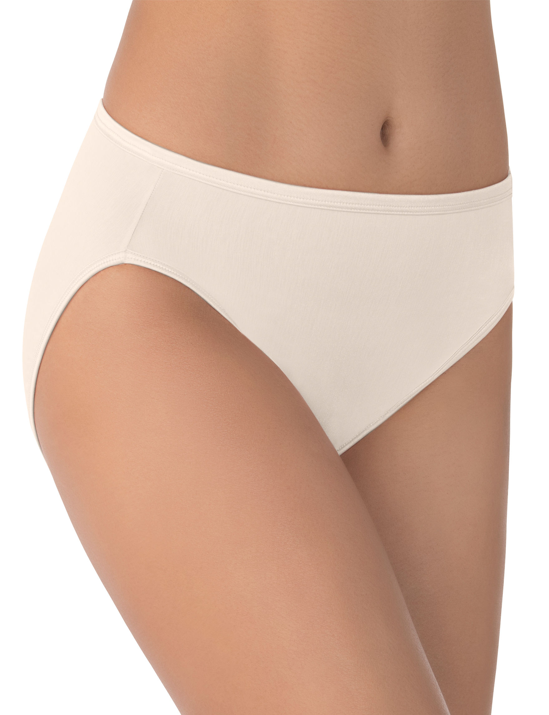 Vanity Fair Cream Panties High Cut