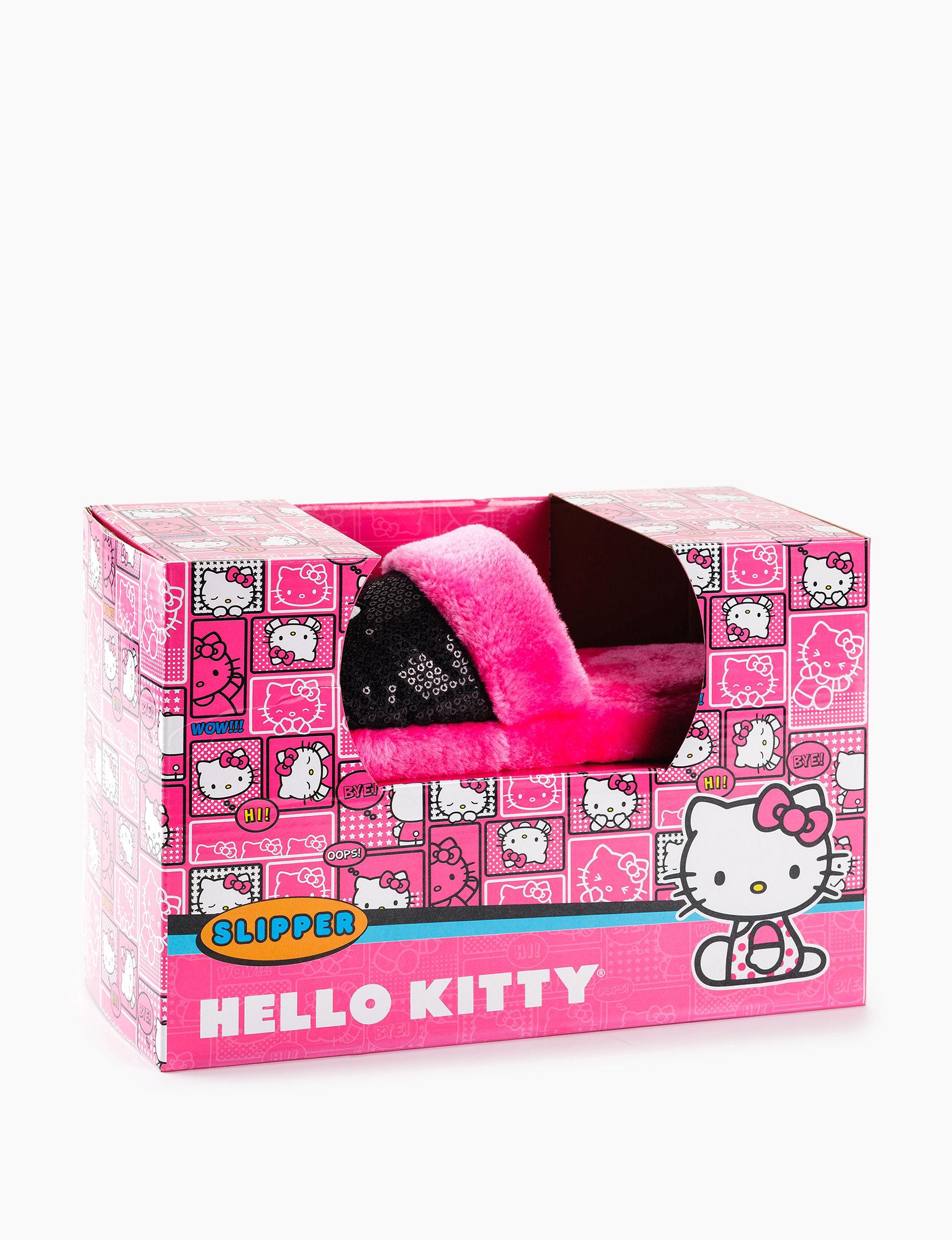 Hello Kitty Pink / Black Slipper Sandals