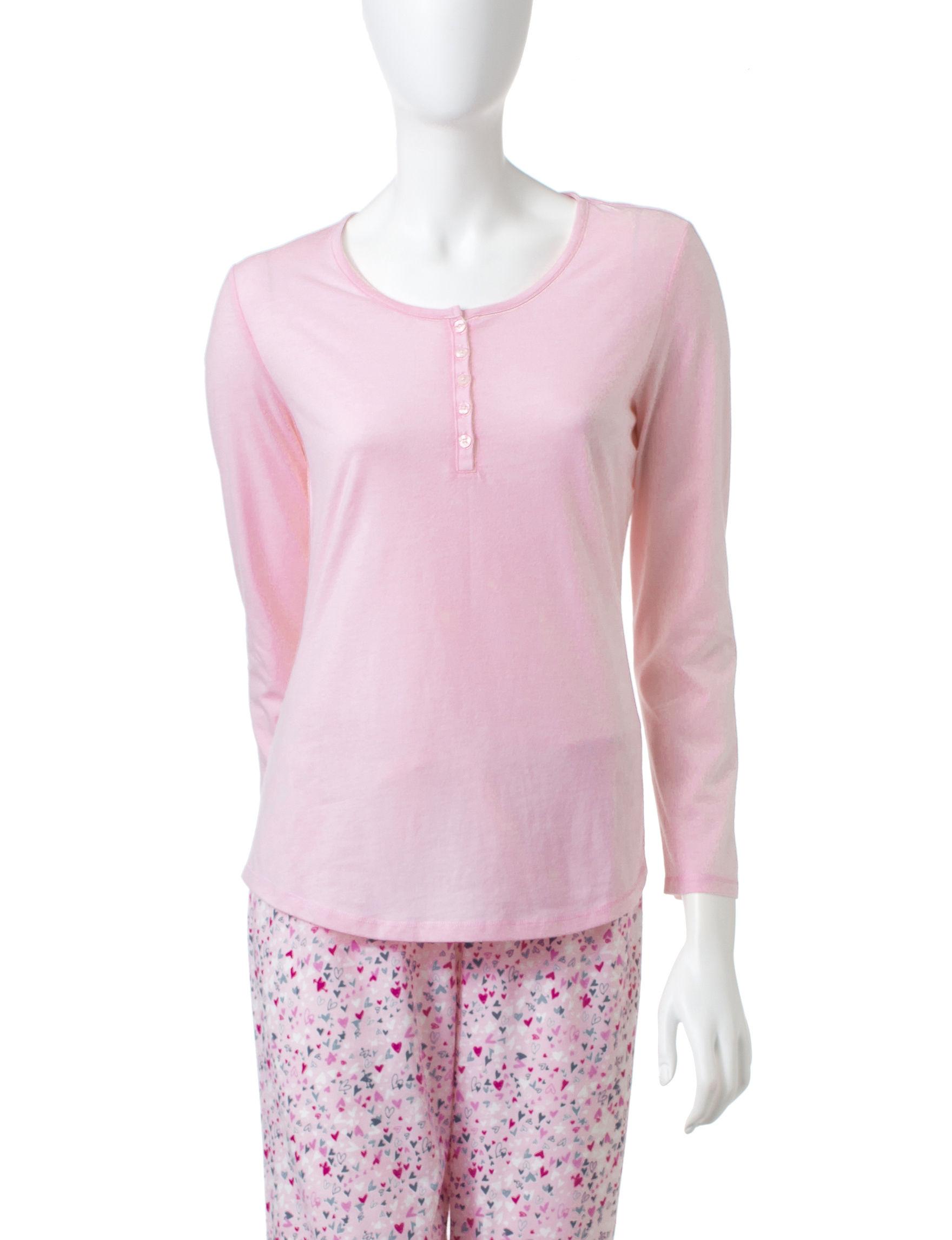 Jockey Pink Pajama Tops