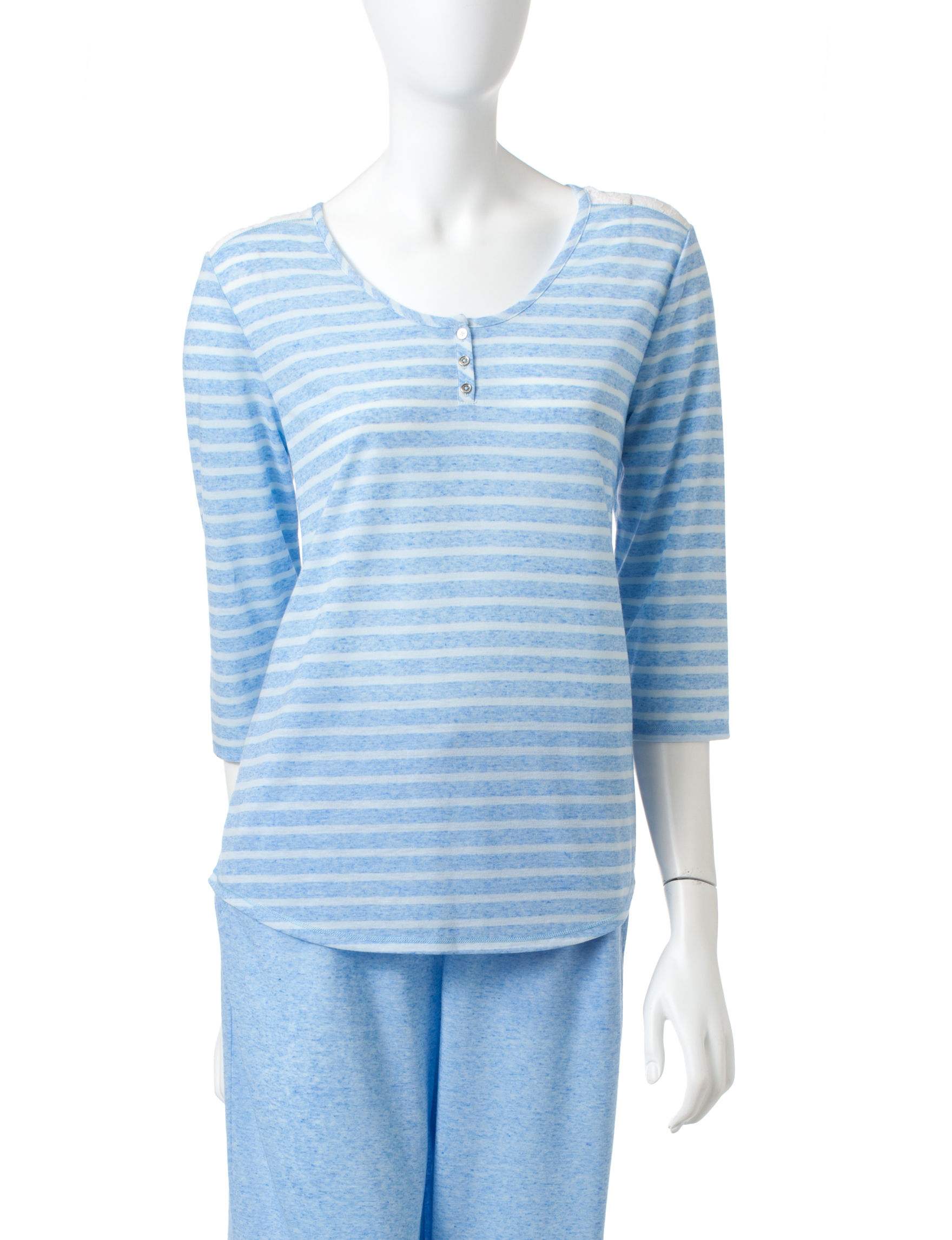 Jaclyn Intimates Blue Pajama Tops