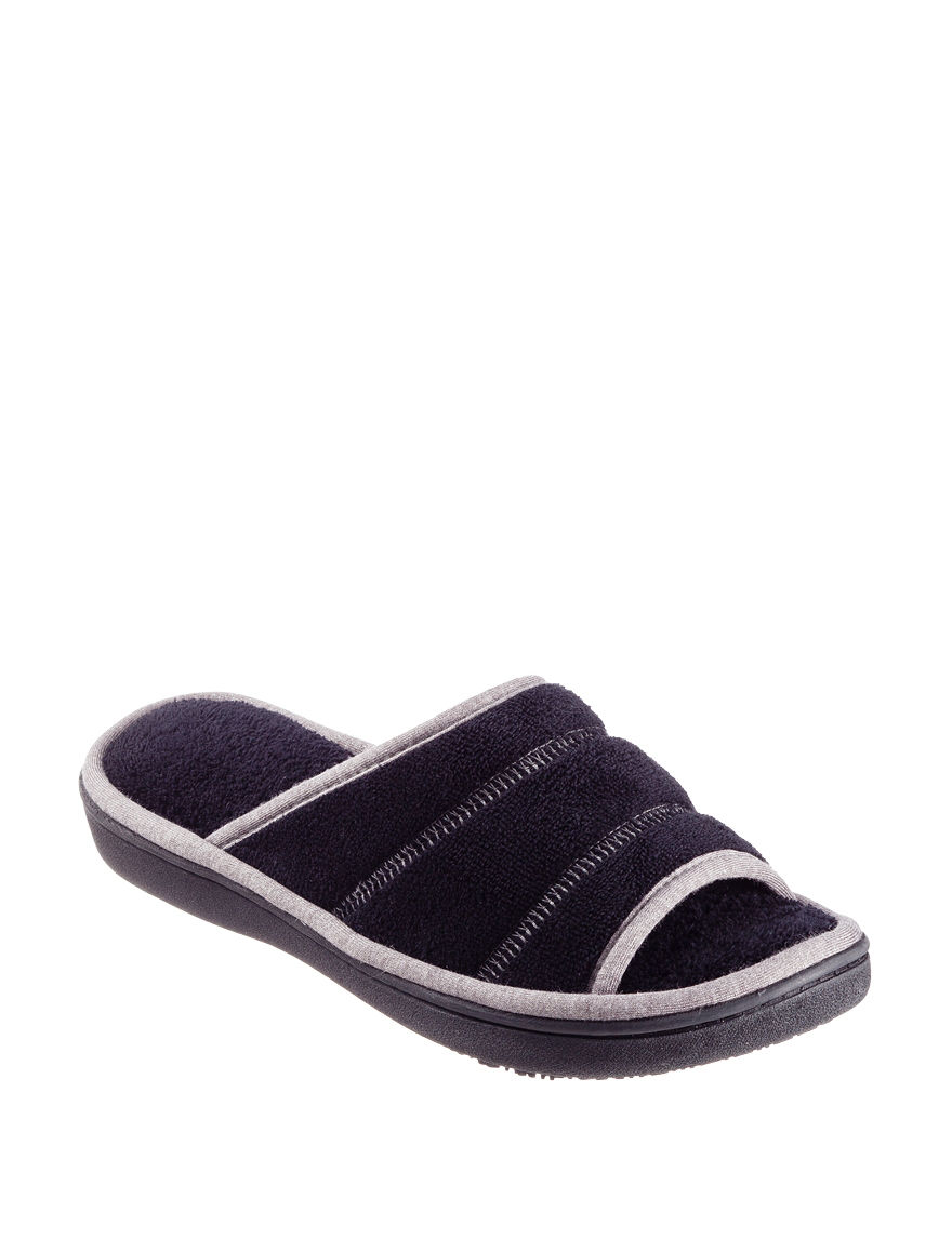 Isotoner Black Slipper Sandals
