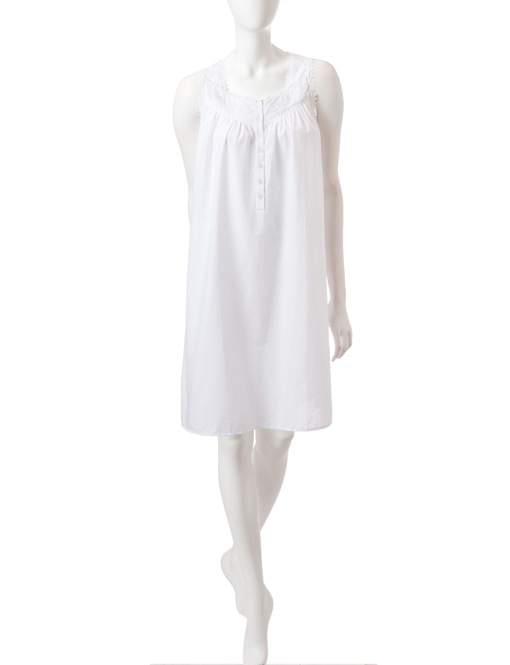 Jasmine Rose White Nightgowns & Sleep Shirts